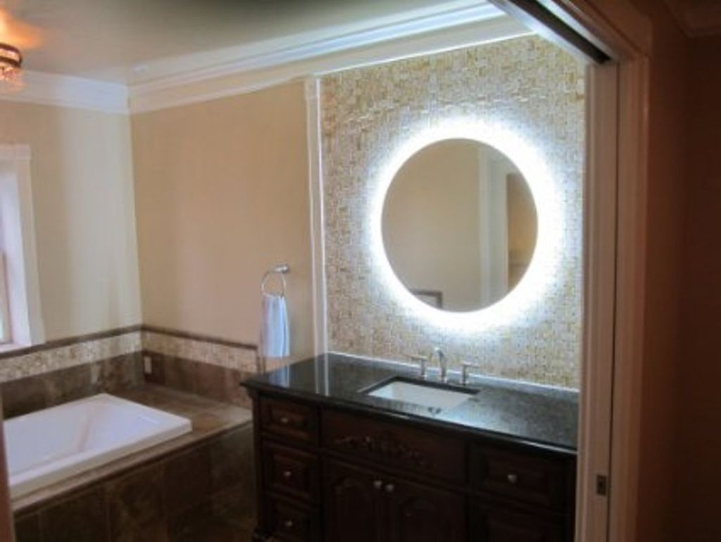 Well Liked Top 44 Superb Wall Mounted Makeup Mirror Round Bathroom Pertaining To Magnifying Wall Mirrors For Bathroom (View 20 of 20)