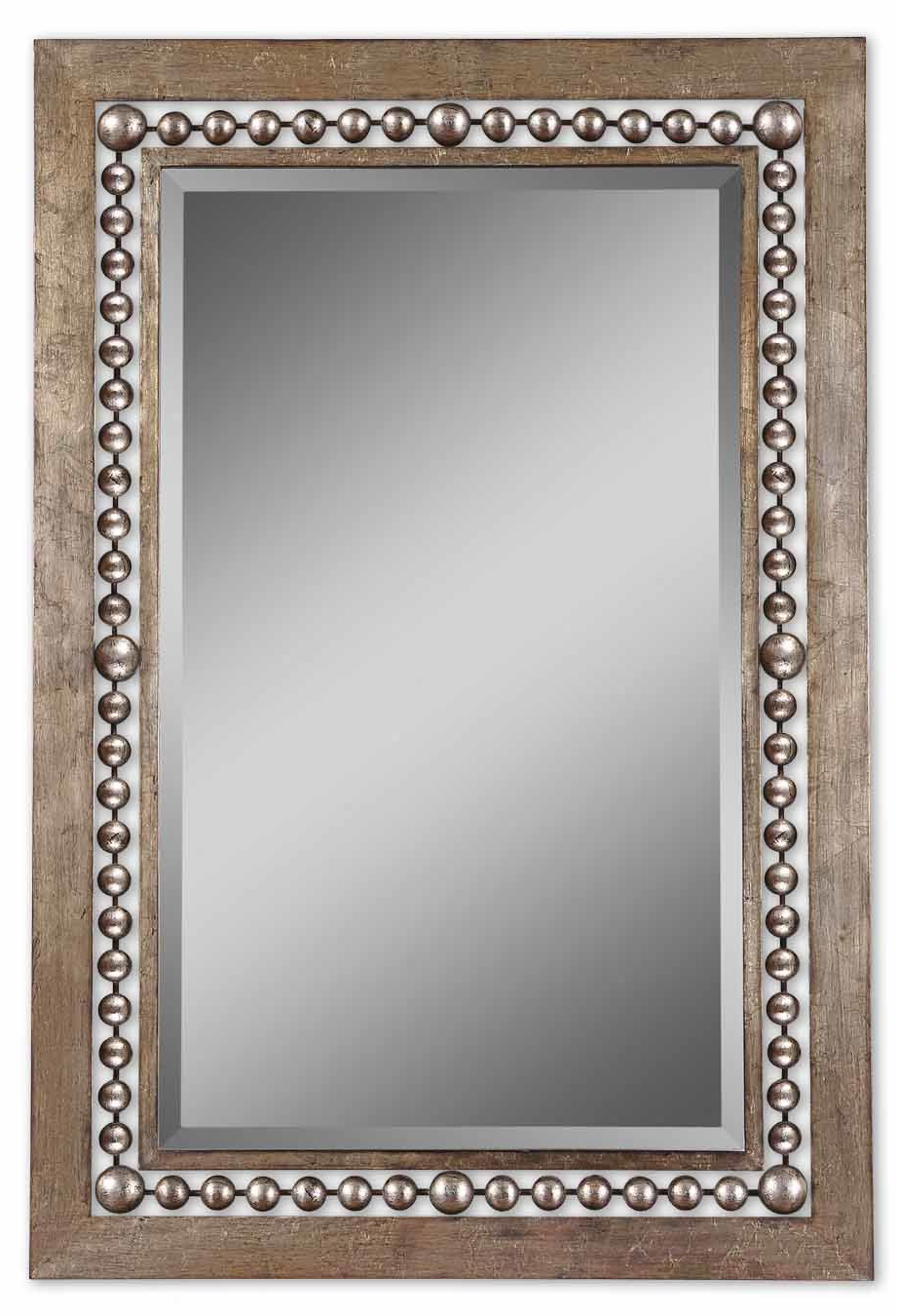 Well Liked Ulus Accent Mirrors Pertaining To Global Inspired Metal Wall Mirror (View 7 of 20)