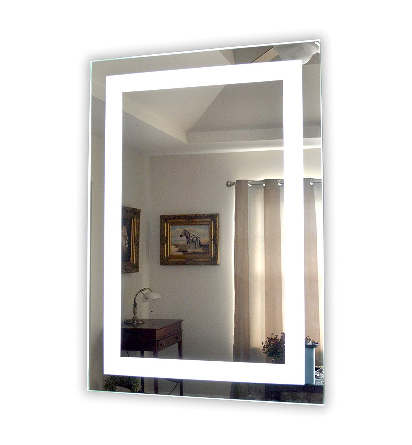 Well Liked Vanity Mirrors In Amazon: Wall Mounted Lighted Vanity Mirror Mam83248 Commercial (View 2 of 20)