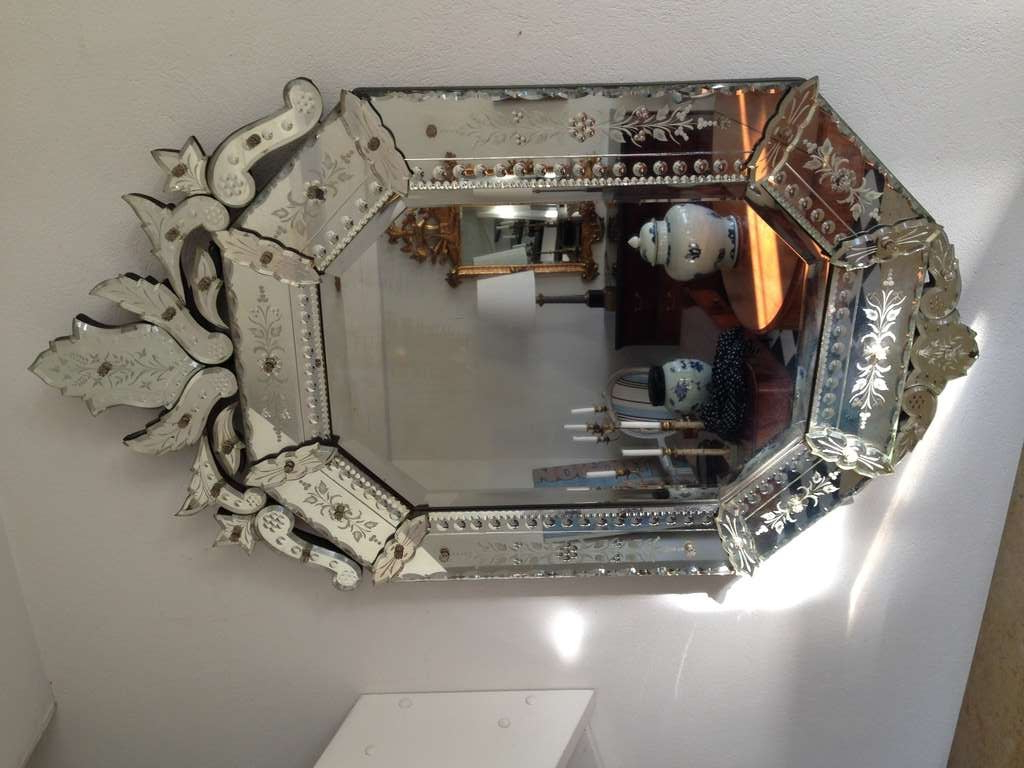 Well Liked Venetian Style Wall Mirrors In Mirror Venetian Wall 20th Century Europe (View 4 of 20)