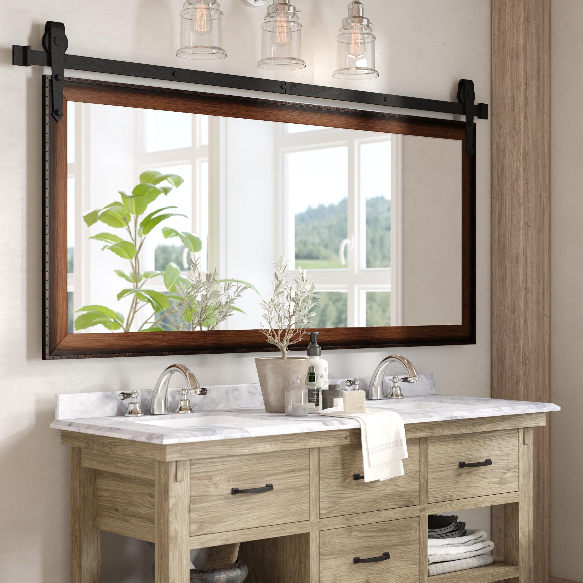 Well Liked Wall Mirrors For Bathroom Vanities Inside Nicholle Bathroom/vanity Mirror (View 9 of 20)