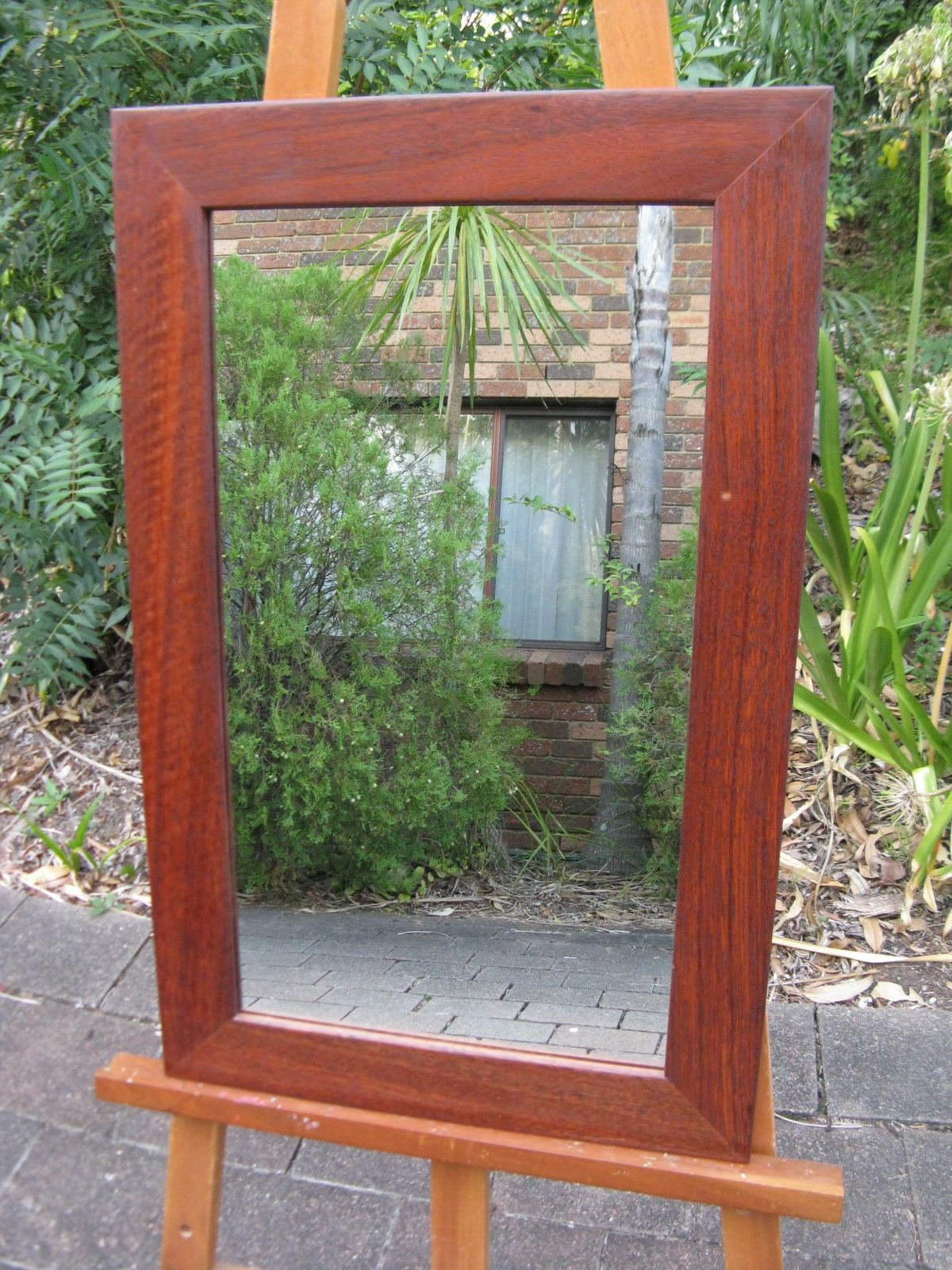 Well Liked West Australian Red Jarrah Hardwood Timber Framed Wall For Red Framed Wall Mirrors (View 15 of 20)