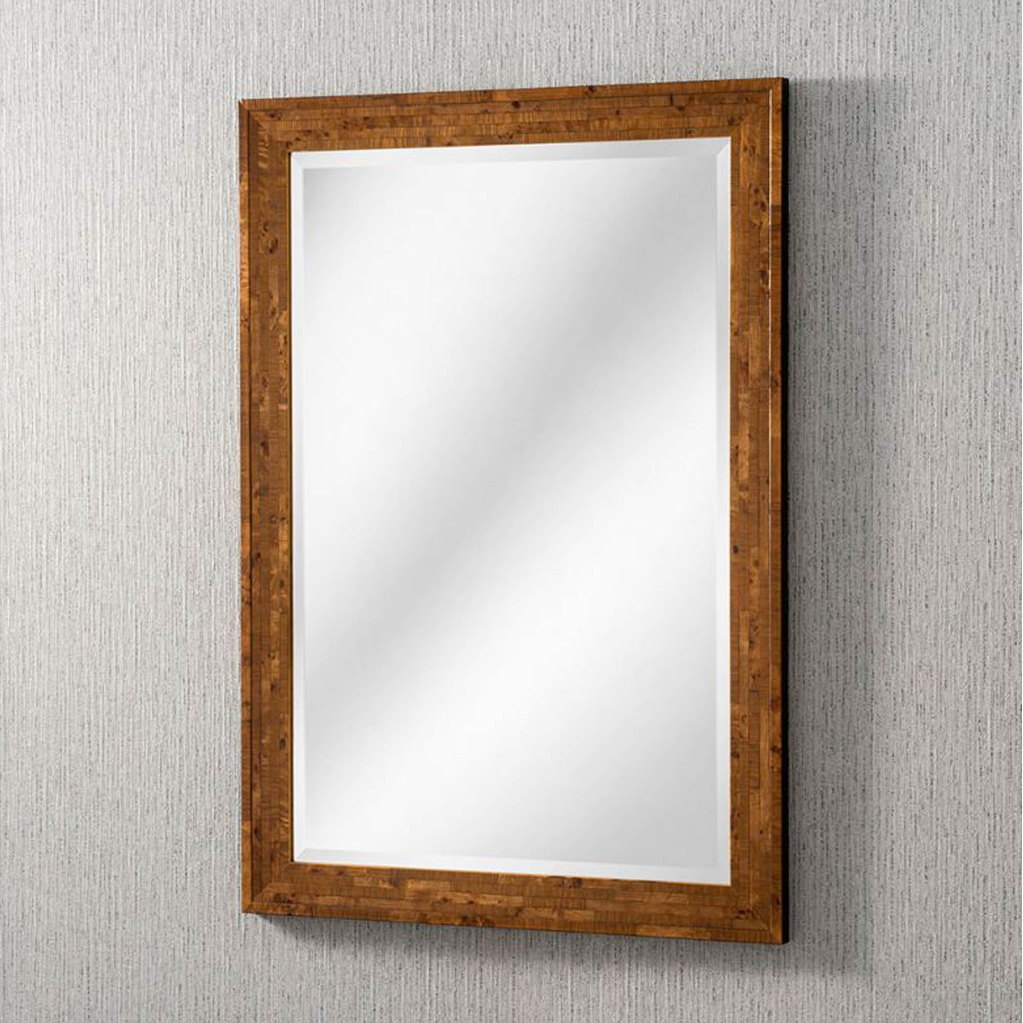 Well Liked Wood Wall Mirrors Regarding Reclaimed Wood Rectangular Wall Mirror (View 15 of 20)