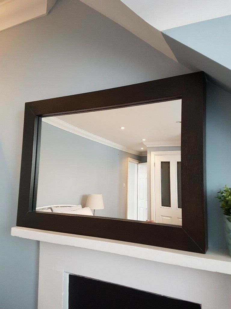 West Elm Dark Brown Wood Mirror – Great Condition (View 18 of 20)