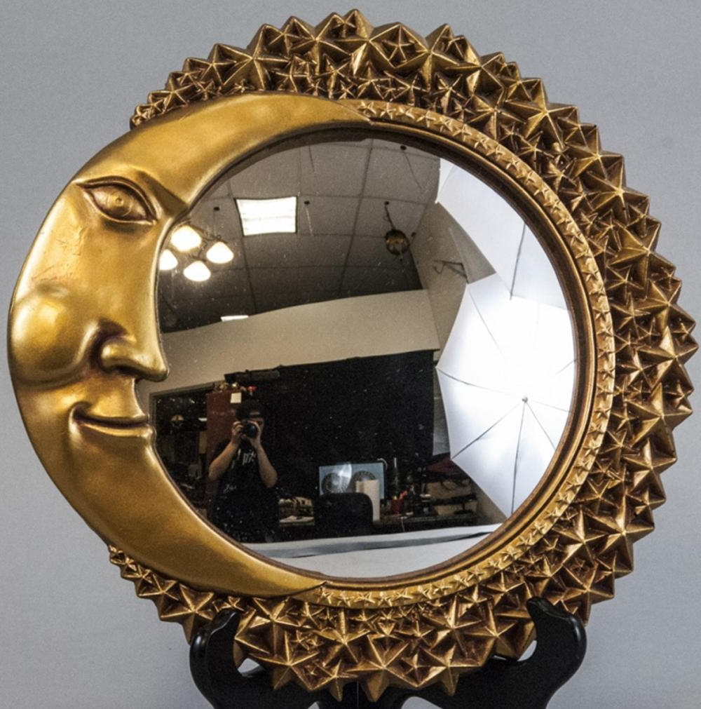 Whimsical Gold Crescent Moon & Star Wall Mirror For Trendy Star Wall Mirrors (View 6 of 20)