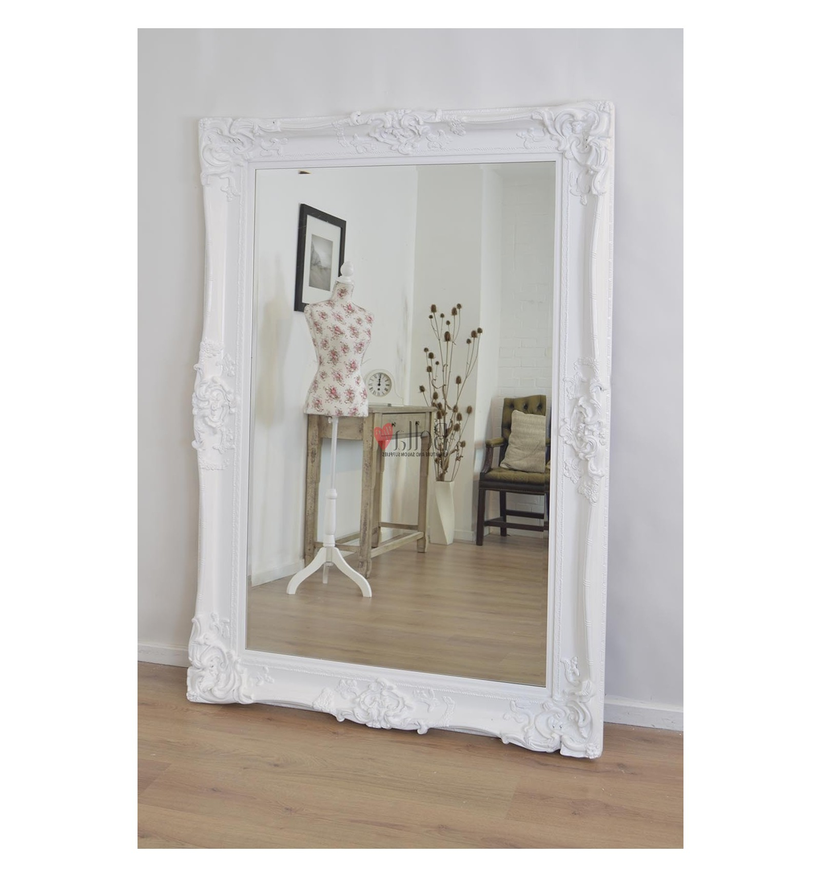 White Antique Wall Mirror Throughout Recent Large White Wall Mirrors (View 17 of 20)
