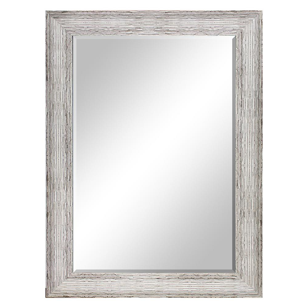 White Decorative Wall Mirrors Inside Trendy 31.5 In X 43.5 In (View 20 of 20)