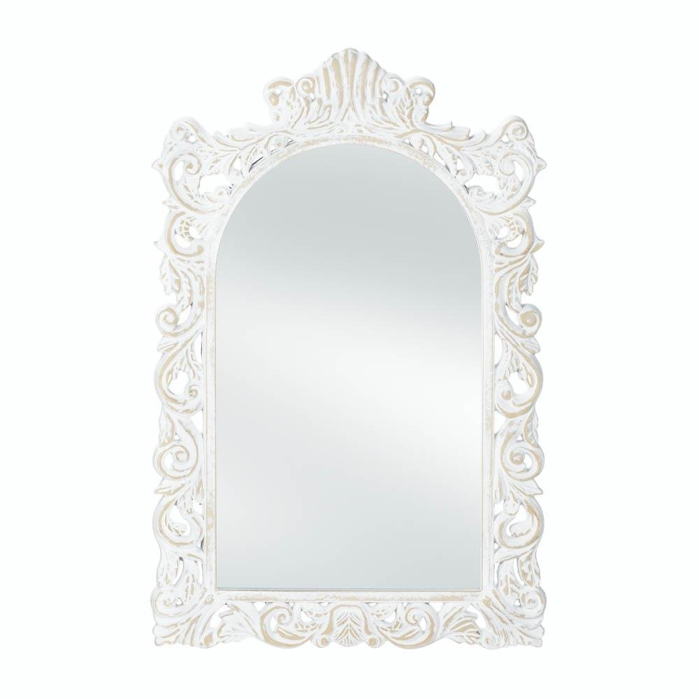 White Decorative Wall Mirrors With Regard To Most Recent Details About Decorative Wall Mirrors, Unique Contemporary Art Grand Etched White Wall Mirror (View 6 of 20)