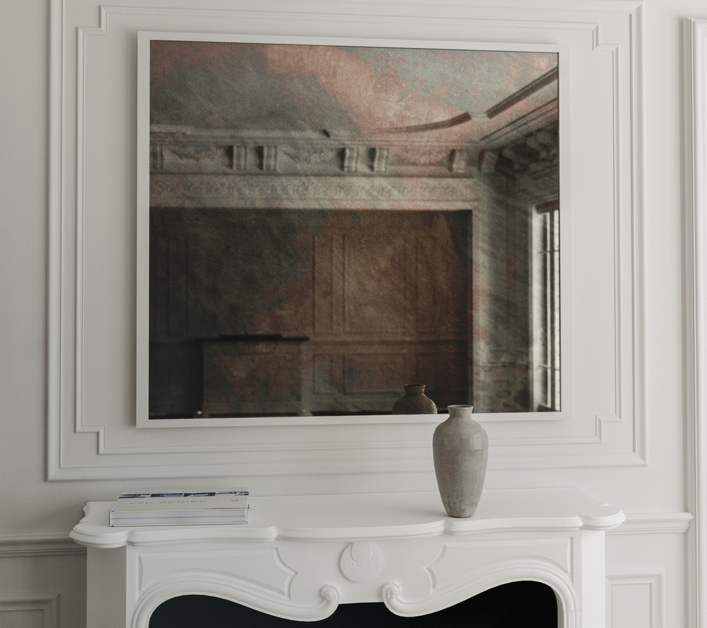 White Frame Wall Mirrors For Most Current Stunning Idea White Framed Wall Mirror Also Com Stud Large (View 18 of 20)