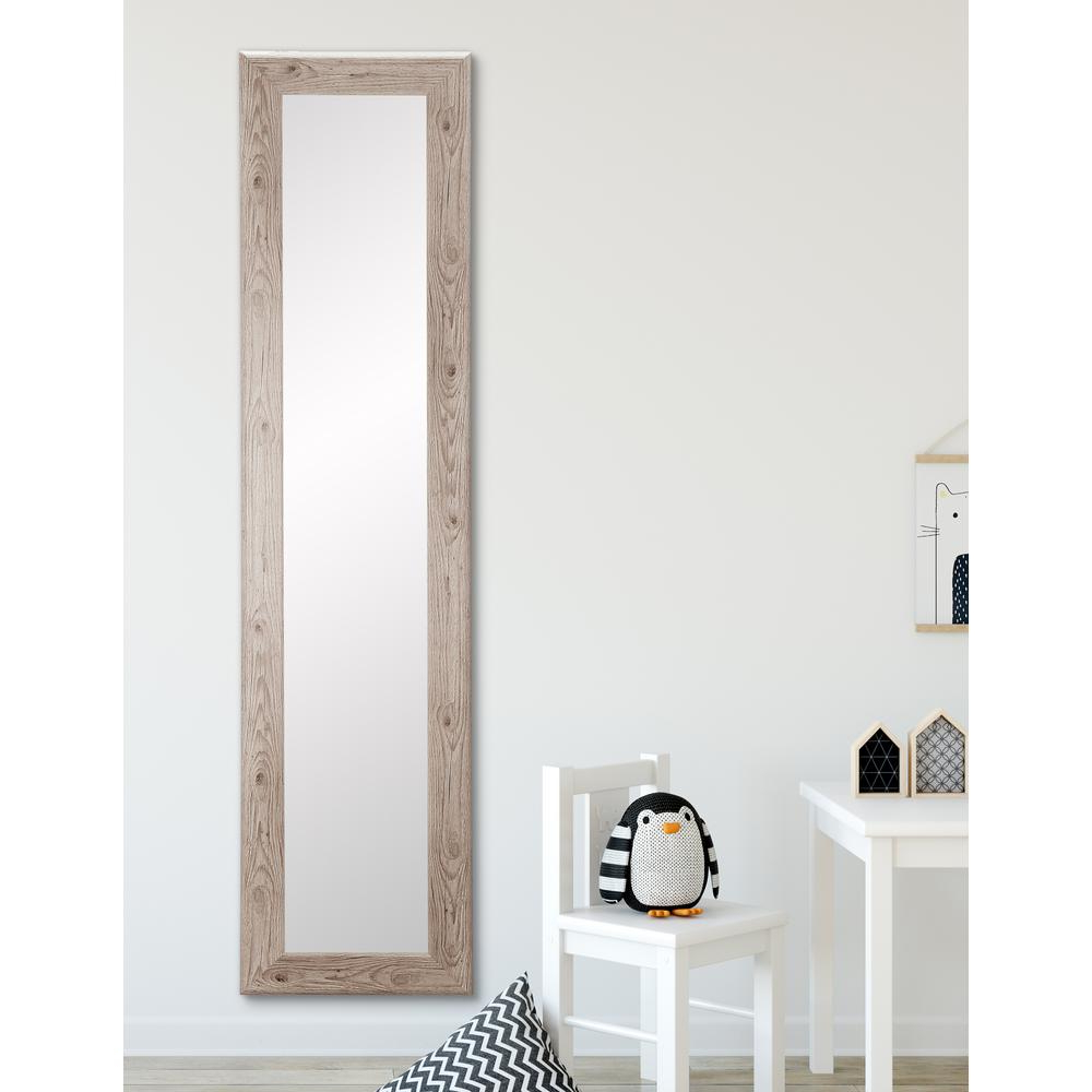 White Full Length Wall Mirrors With Regard To Most Popular Farmhouse White Slim Full Length Mirror (View 10 of 20)