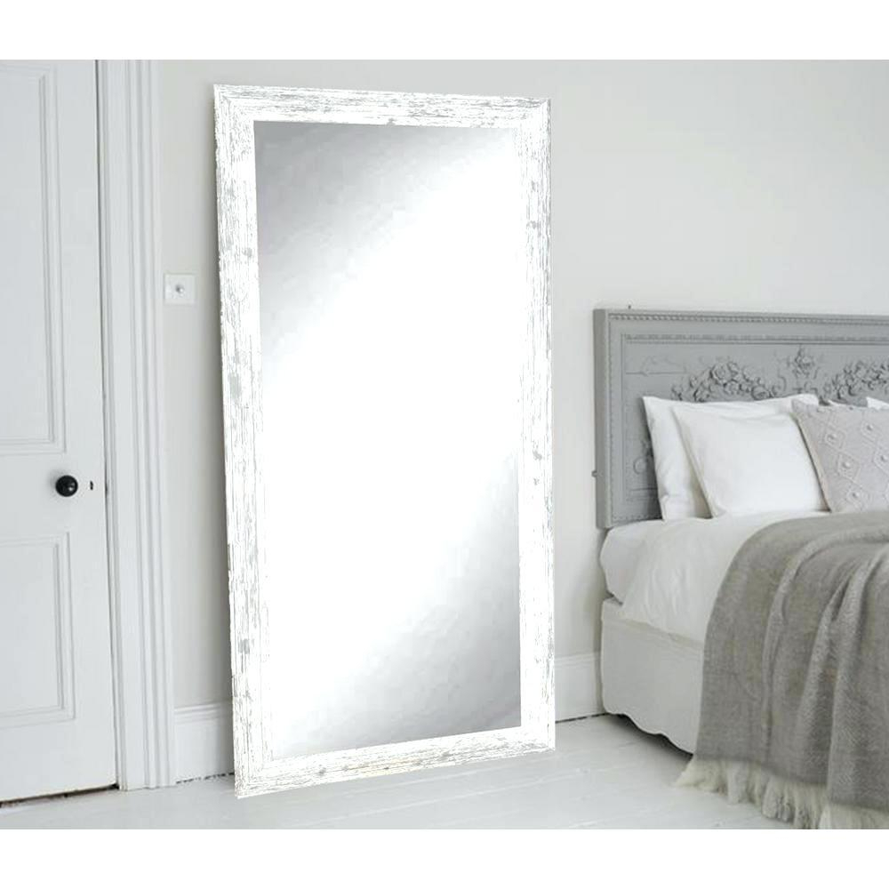 White Long Wall Mirrors Throughout 2020 Wunderbar White Wall Mirrors Large Vanities Magnifying Cust Depot (View 11 of 20)