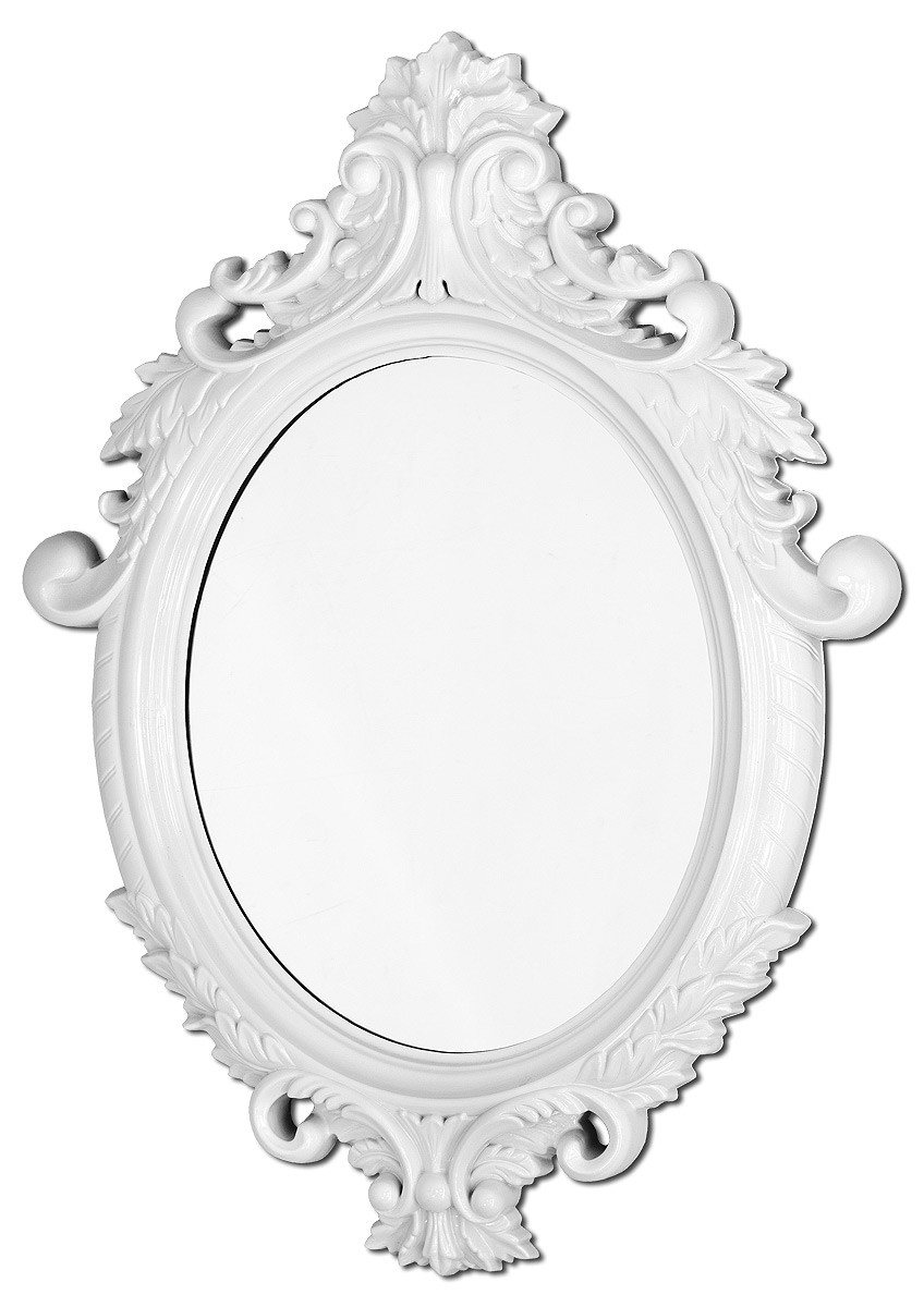 White Oval Wall Mirrors Regarding Popular Vittoria Wall Mirror (White) (View 20 of 20)