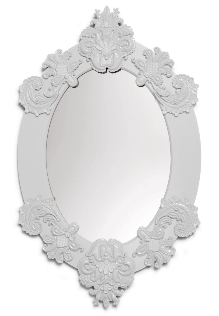 White Oval Wall Mirrors With Regard To Widely Used Oval Wall Mirror. White (View 4 of 20)