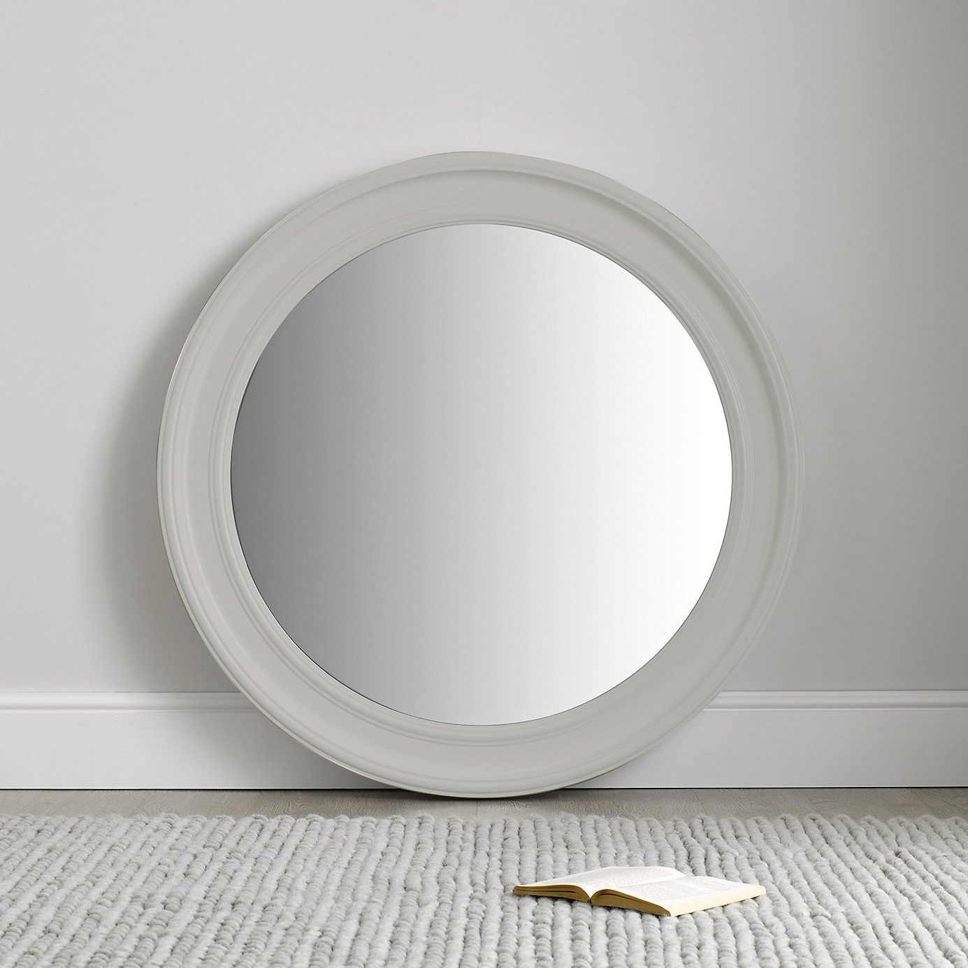 Featured Photo of White Round Wall Mirrors