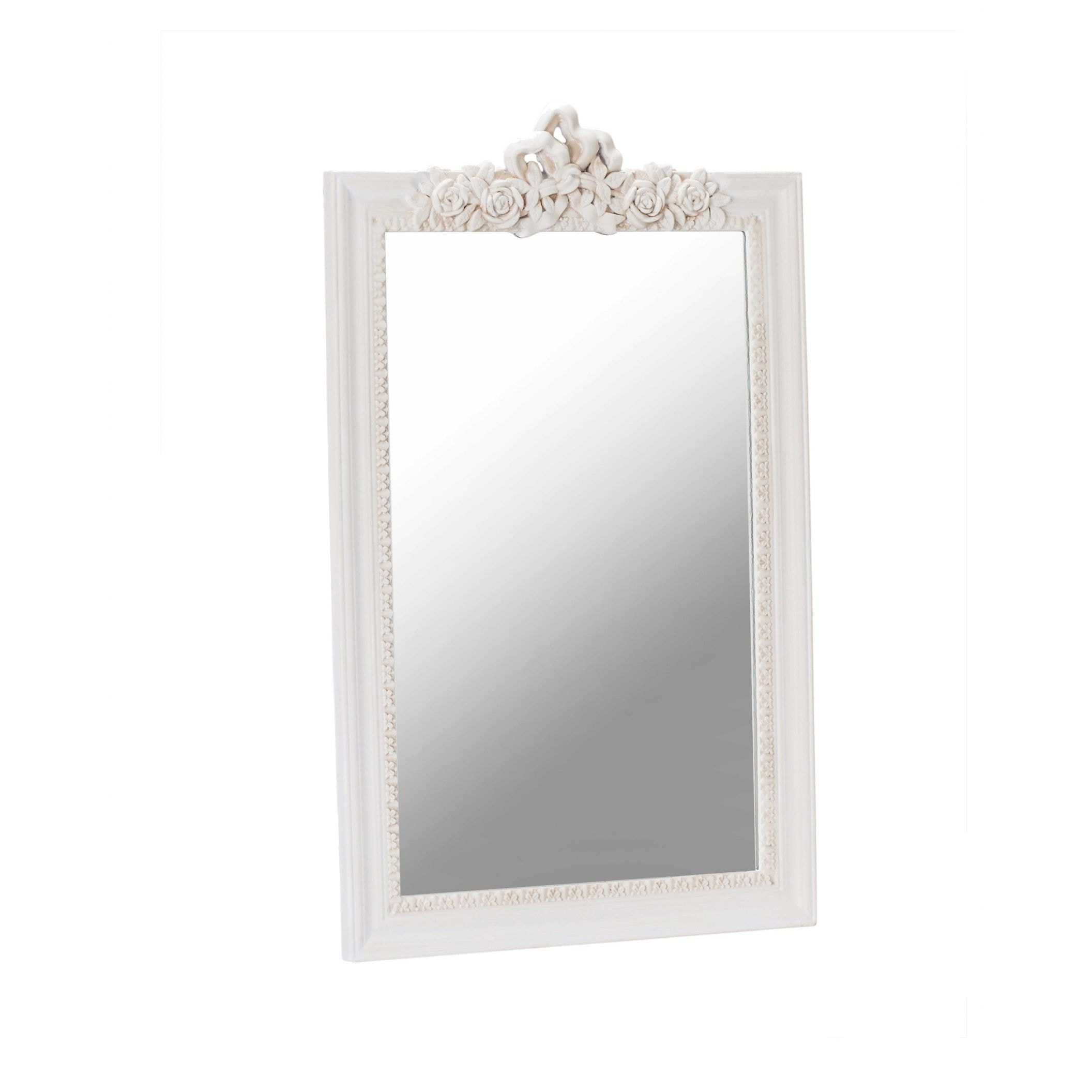 White Shabby Chic Wall Mirrors With Newest Juliette Antique French Style Wall Mirror (View 11 of 20)