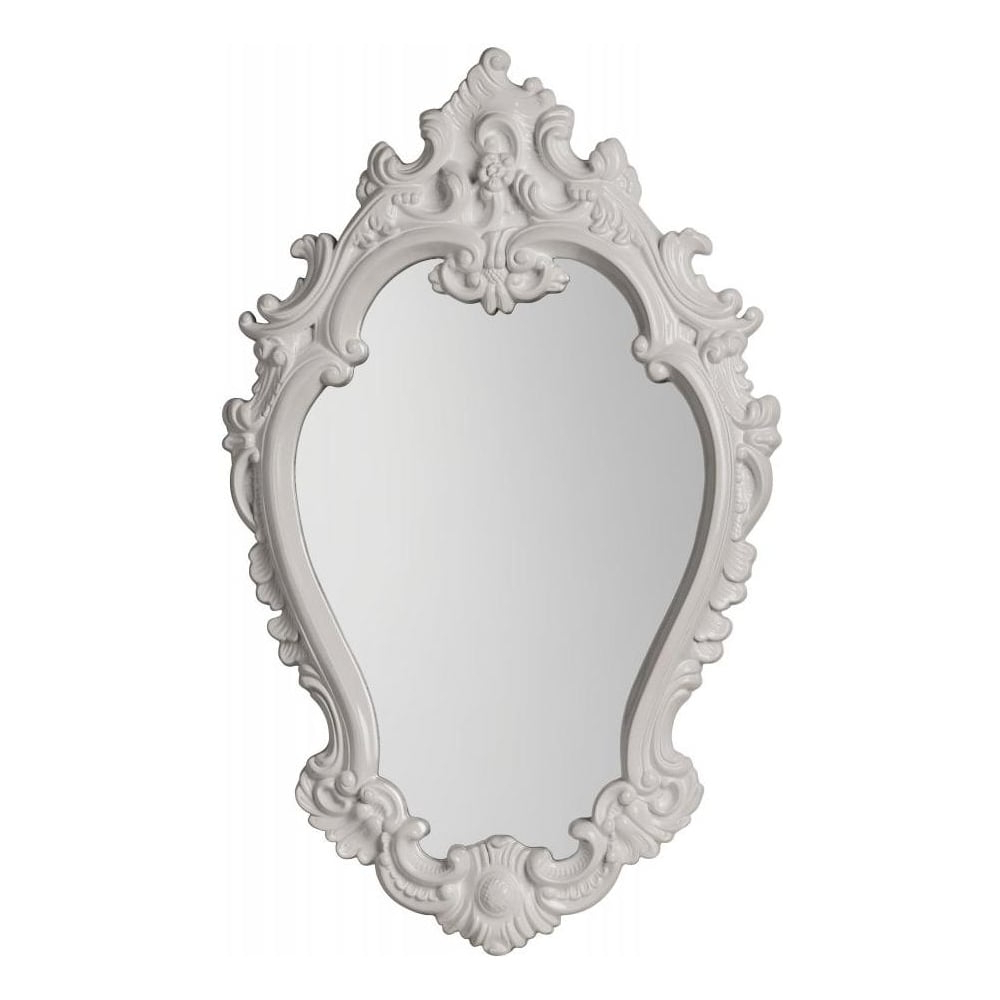 White Vintage Style Oval Wall Mirror Inside 2019 White Oval Wall Mirrors (View 5 of 20)