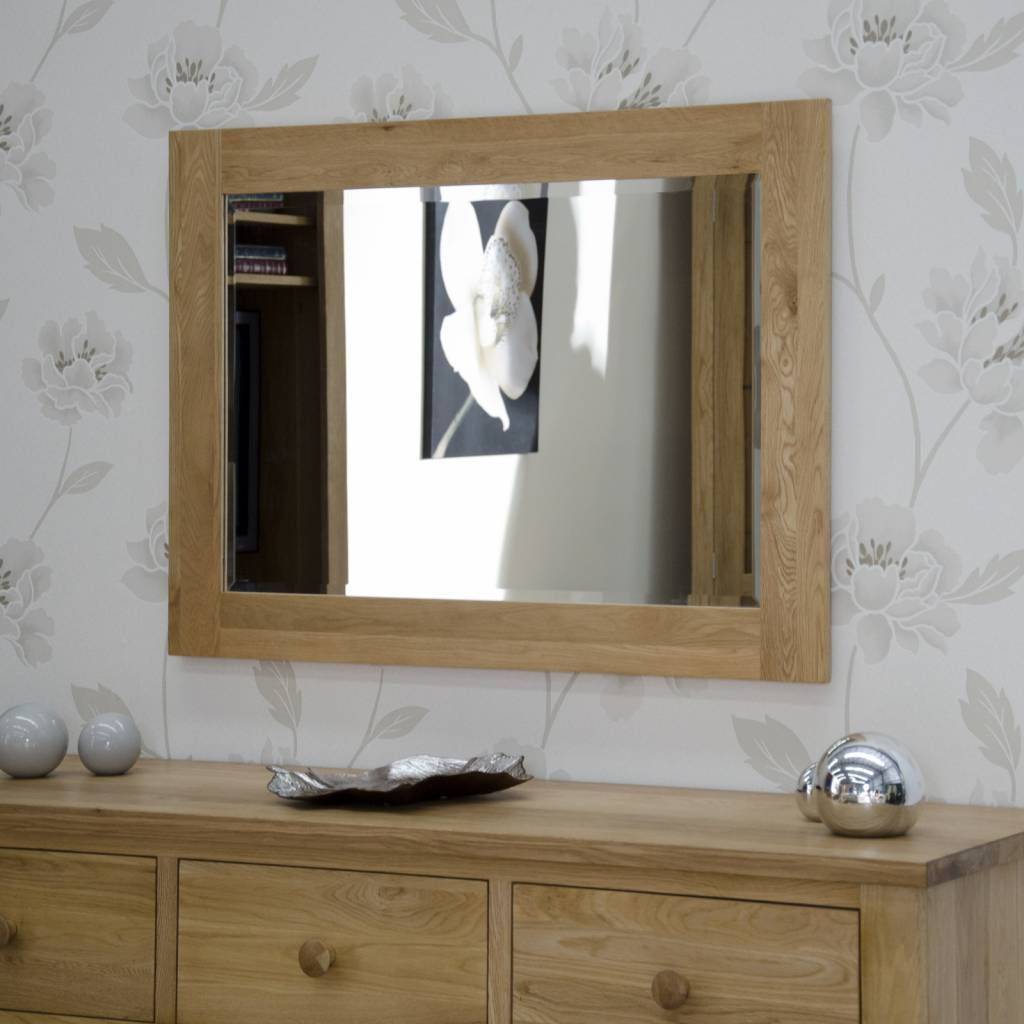 Wide Wall Mirrors In Trendy Opus Oak Wide Wall Mirror – Freitaslaf Net Ltd (View 6 of 20)