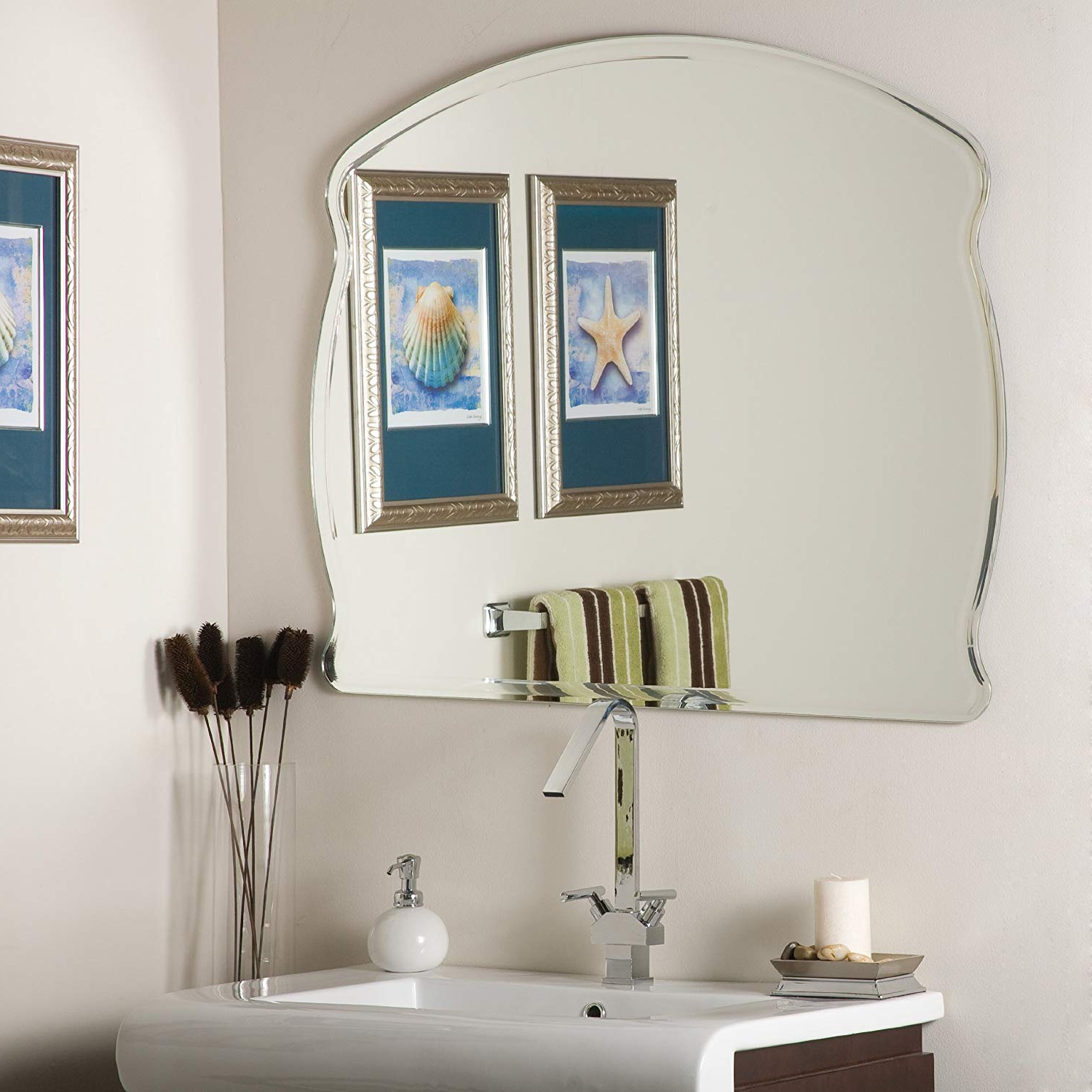 Wide Wall Mirrors Throughout Famous Decor Wonderland Frameless Wide Wall Mirror (View 16 of 20)