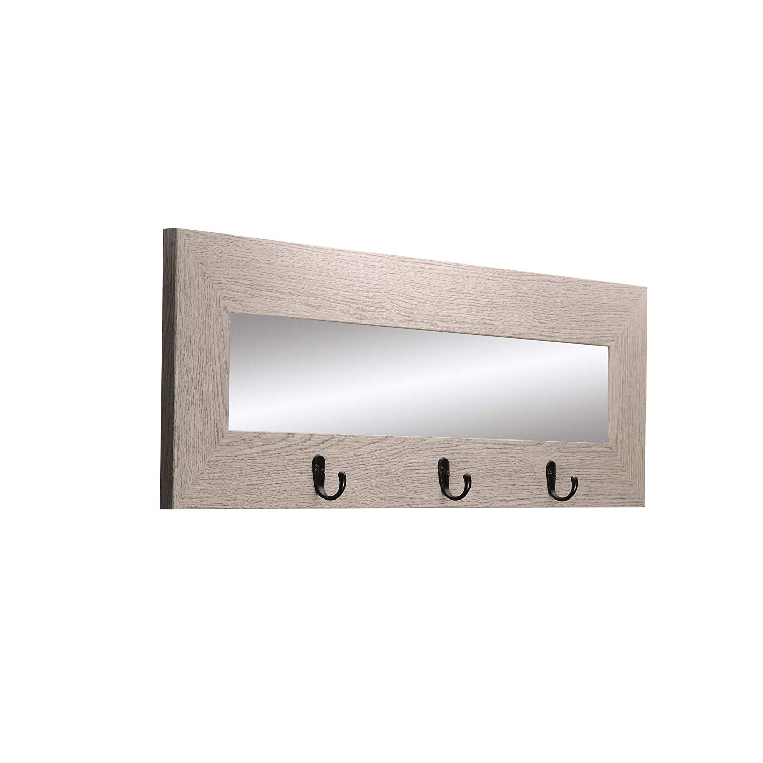 Widely Used Amazon: Brandtworks Last Look Wall Mirror With Hooks: Home & Kitchen Intended For Wall Mirrors With Hooks (View 7 of 20)