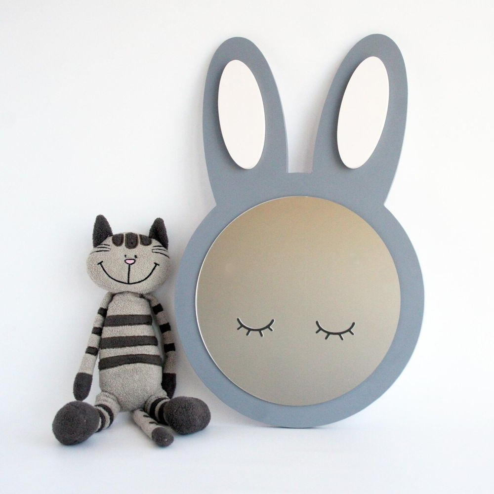 Widely Used Baby Safe Wall Mirrors Throughout A Super Cute Sleepy Eye, Bunny Rabbit Shaped Unbreakable Mirror For (View 14 of 20)
