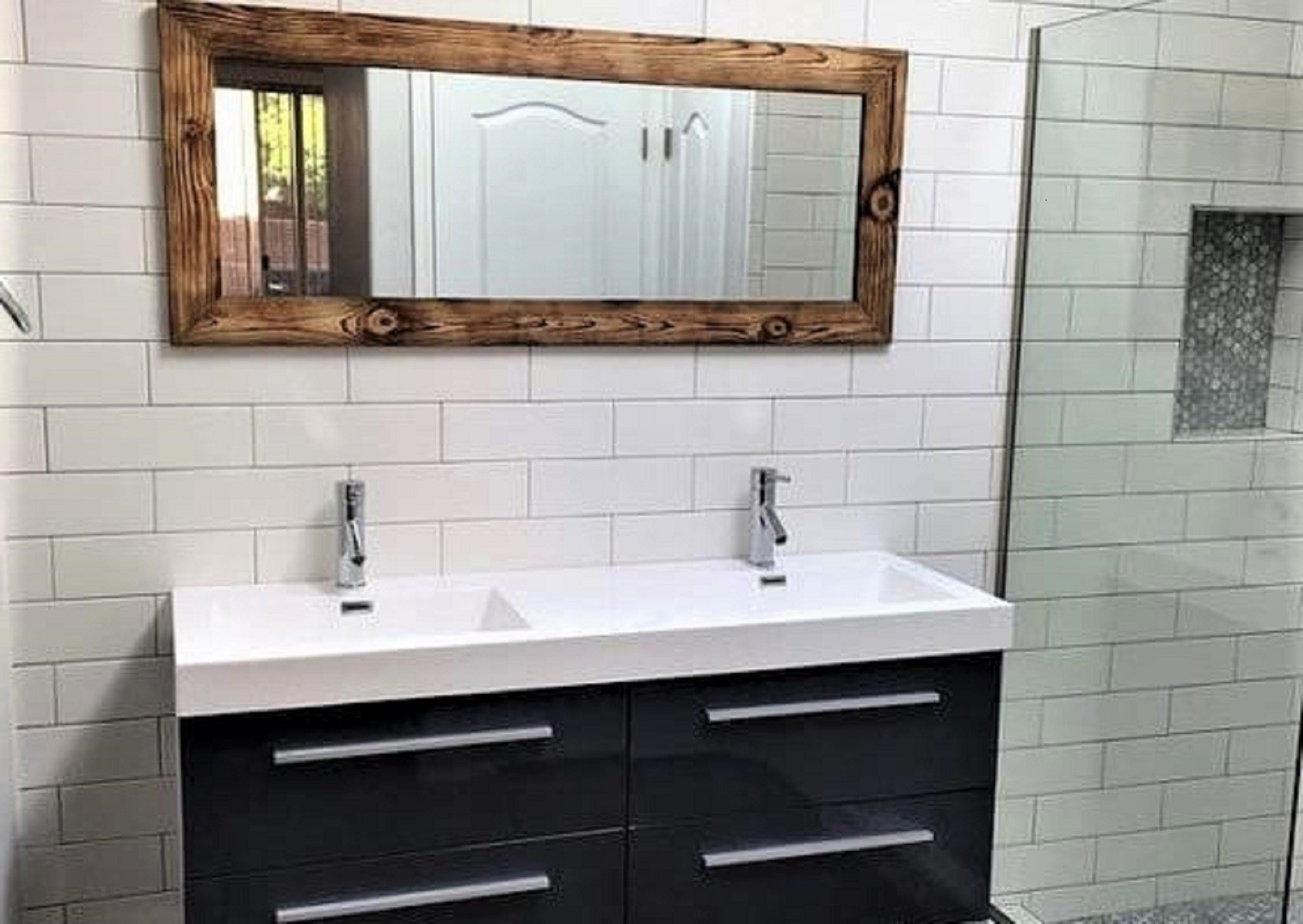 Widely Used Bathroom Full Wall Mirrors With Regard To Bathroom Mirror, Vanity Mirror, Bathroom Vanity Mirror, Full Length Mirror,  Floor Mirror Wall Mirror (View 16 of 20)