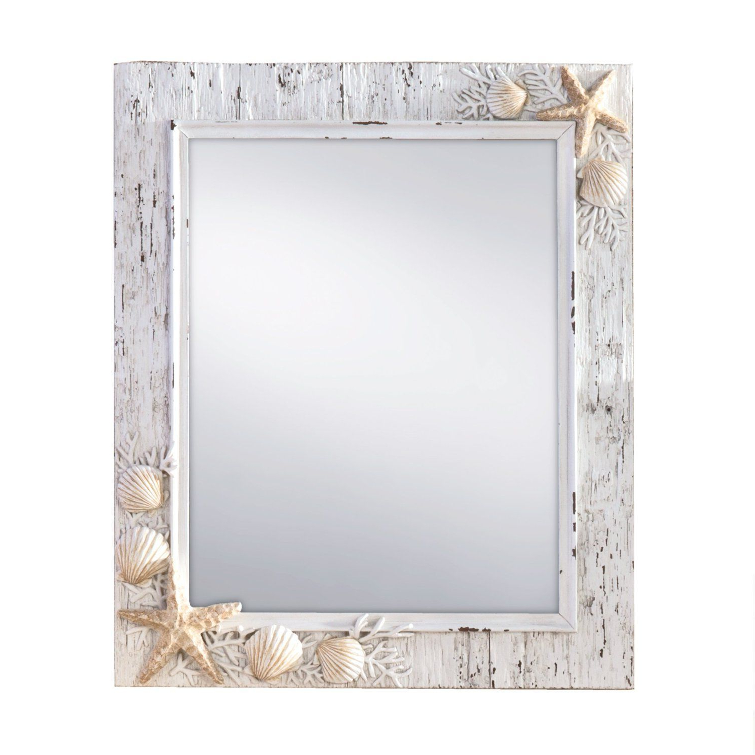 Widely Used Beach Themed Mirrors! Discover The Best Beach Mirrors For Your Wall Inside Hussain Tile Accent Wall Mirrors (Gallery 11 of 20)