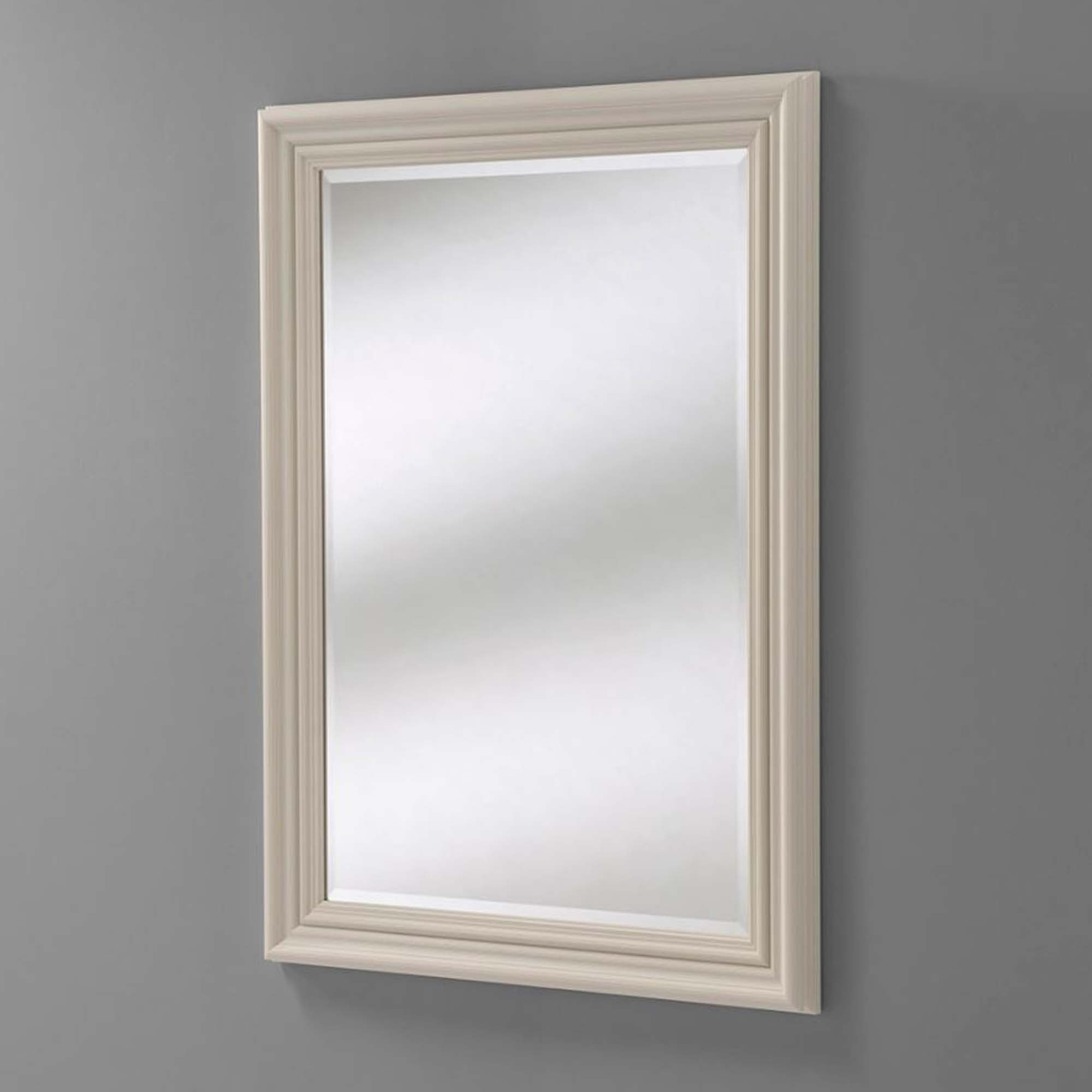 Widely Used Bevelled Wall Mirrors With Bevelled Ivory Rectangular Wall Mirror (View 18 of 20)