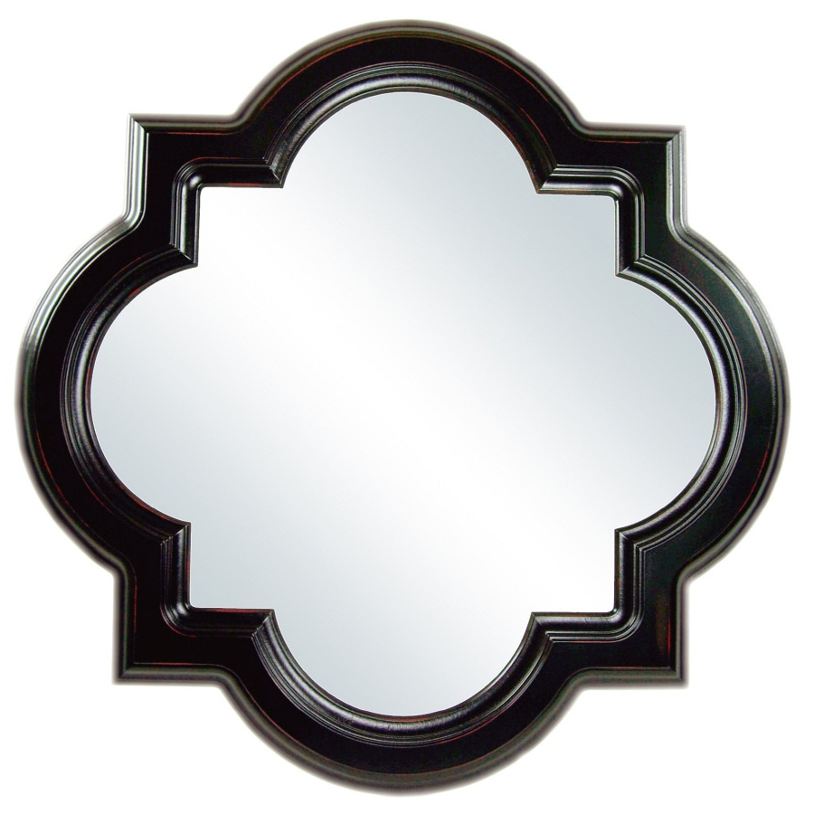 Widely Used Black Frame Wall Mirrors Inside Allen + Roth Cloche Mirror 30 In L X 30 In W Octagon Espresso Framed (View 11 of 20)