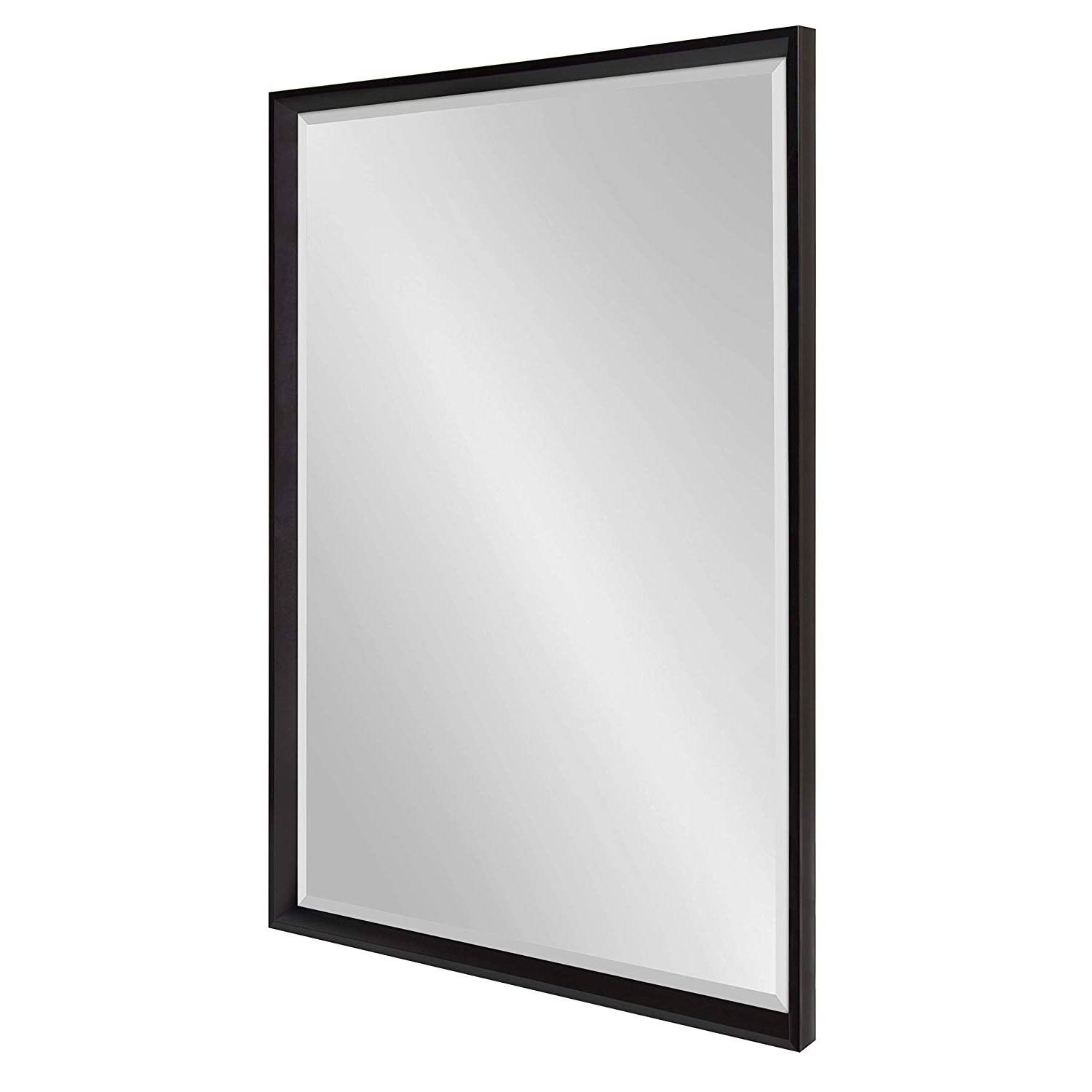 Widely Used Black Rectangle Wall Mirrors For Kate And Laurel Calter Framed Wall Mirror, 25.5x (View 2 of 20)