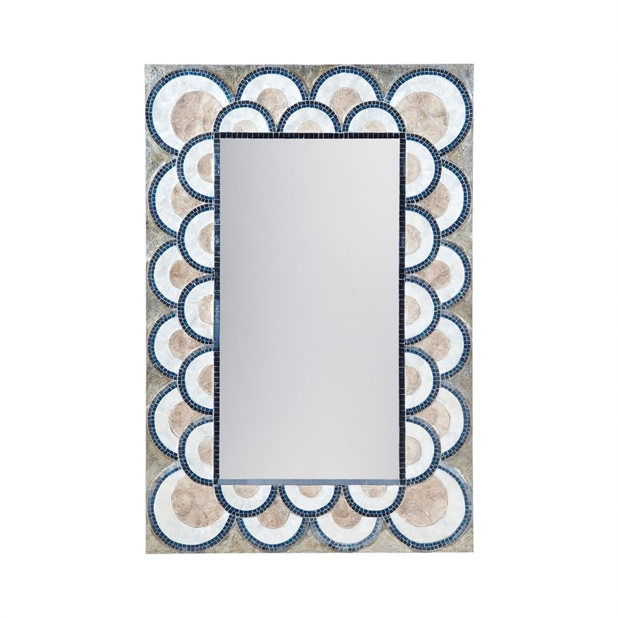 Widely Used Blue Framed Wall Mirrors With Dimond Home 47.3 In L X (View 6 of 20)