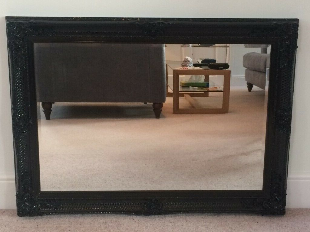 Widely Used Brand New Large Ornate Black Framed Wall Mirror 110x80cm In Box Rrp £ (View 11 of 20)