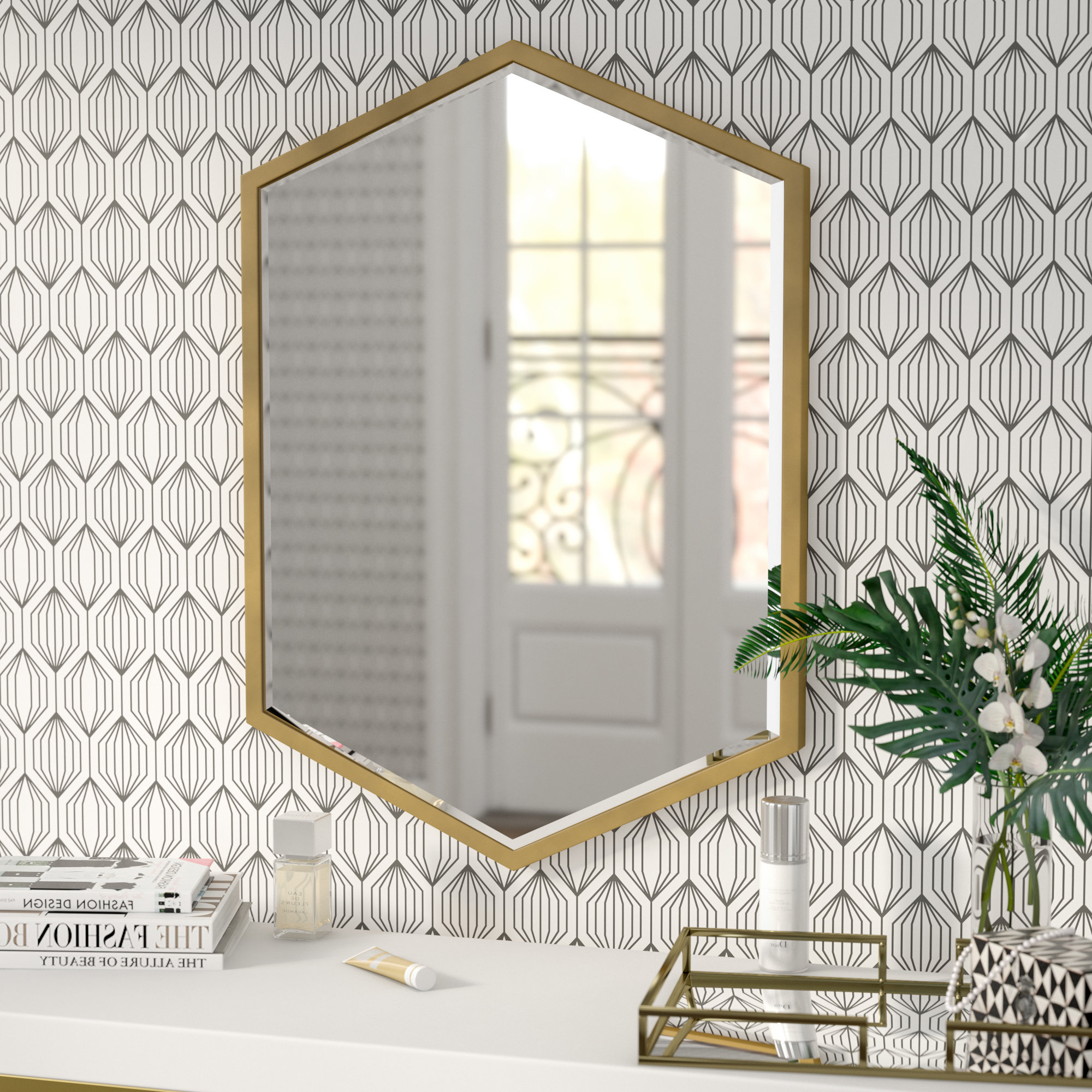 Widely Used Cherine Hexagon Wall Mirror With Hexagon Wall Mirrors (View 6 of 20)