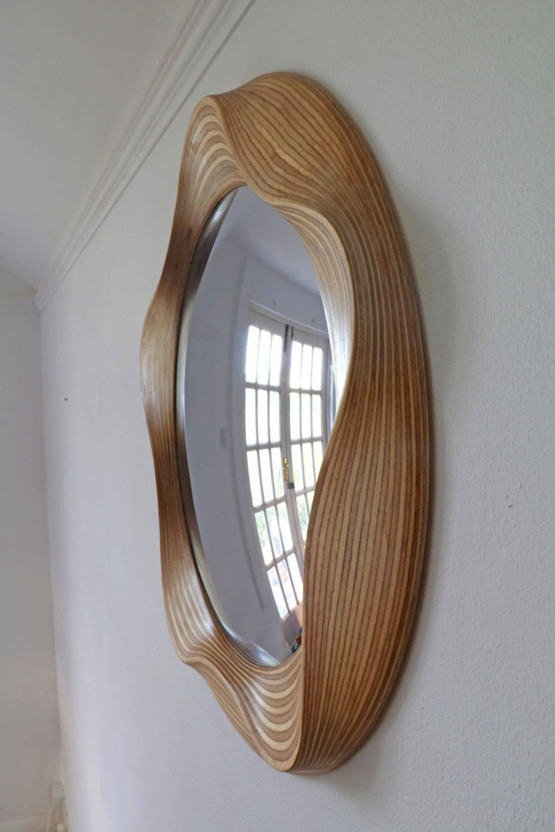 Widely Used Convex Mirror – Large Convex Mirrors – Round Mirror – Bathroom Mirror – Wooden Mirror – Wall Mirror – Big Mirror – Round Convex Mirror Intended For Convex Wall Mirrors (View 5 of 20)