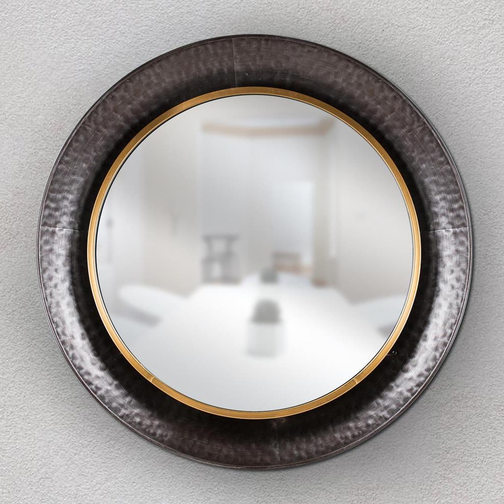 Widely Used Crystal Art Gallery Round Gold/concave Silver Metal Framed Wall Pertaining To Concave Wall Mirrors (View 20 of 20)