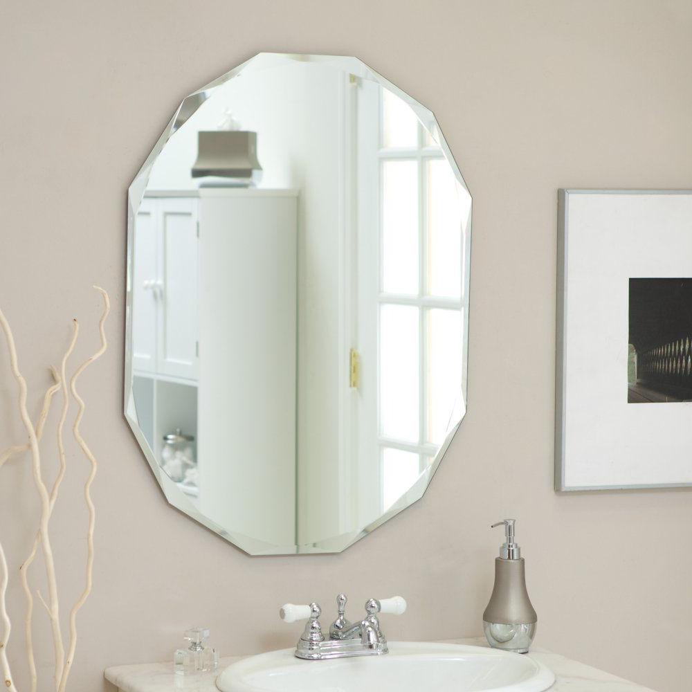 Widely Used Décor Wonderland Frameless Diamond Wall Mirror – 23.5W X (View 4 of 20)