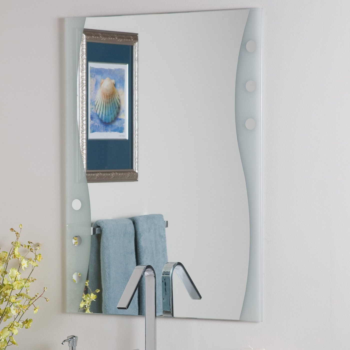Widely Used Decor Wonderland Frameless Maritime Wall Mirror Intended For Bath Wall Mirrors (View 14 of 20)