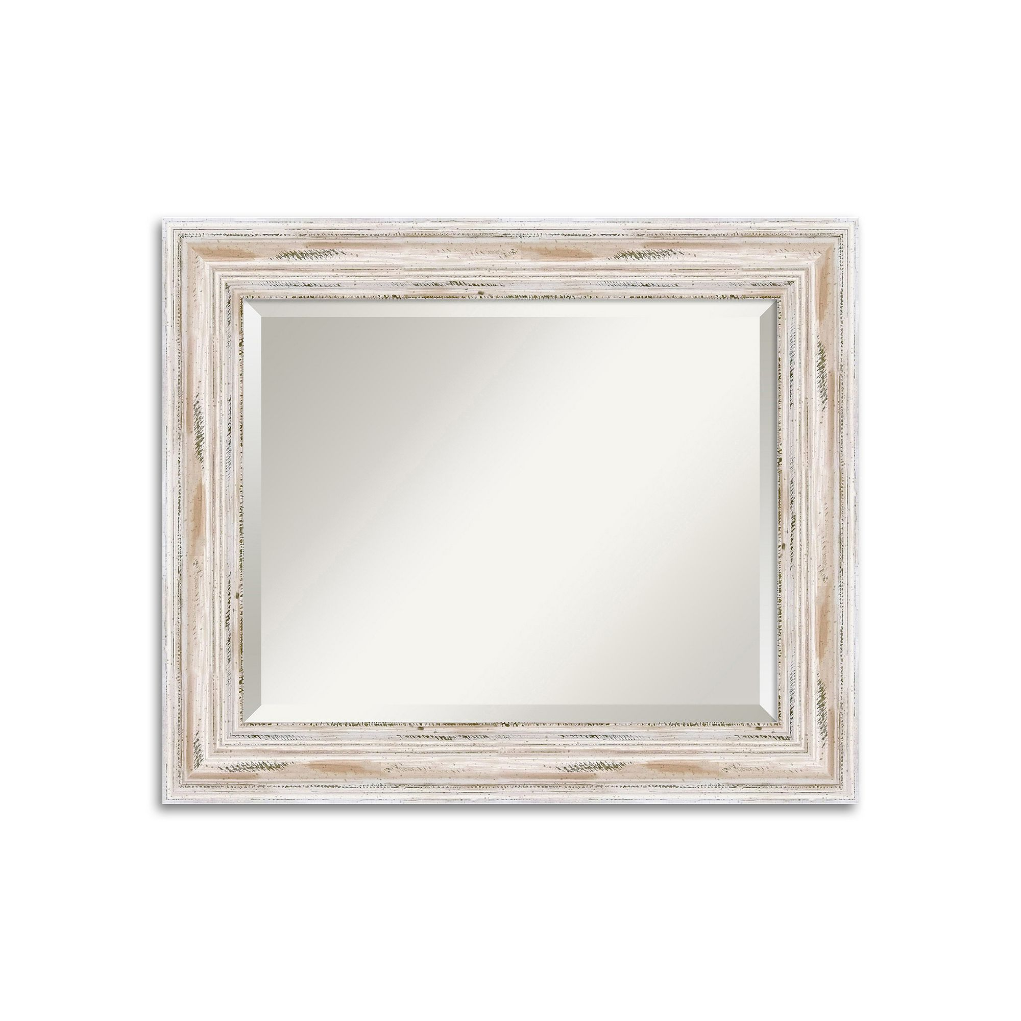 Widely Used Distressed Wall Mirrors With Amanti Art Alexandria Medium Whitewash Distressed Wood Wall Mirror (Gallery 20 of 20)
