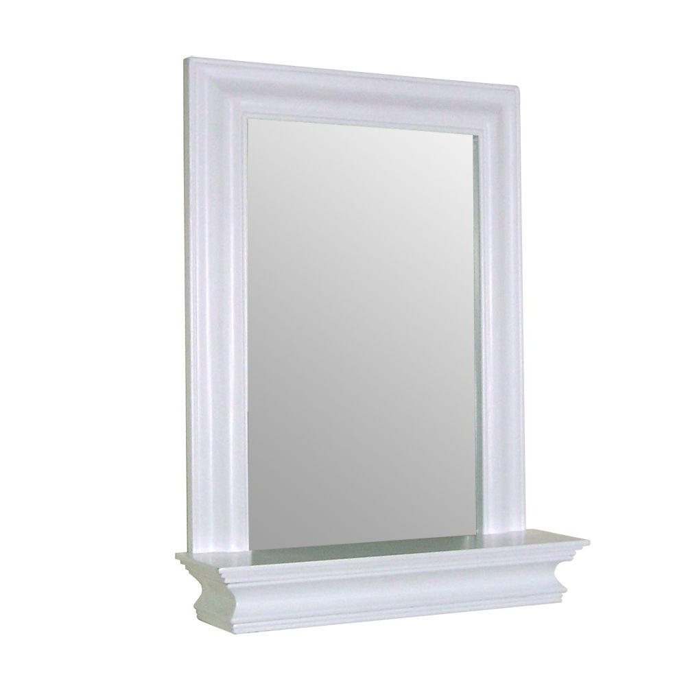 Widely Used Elegant Home Fashions Stratford 24 In. X 18 In. Framed Wall Mirror In White Throughout Elegant Wall Mirrors (Gallery 18 of 20)