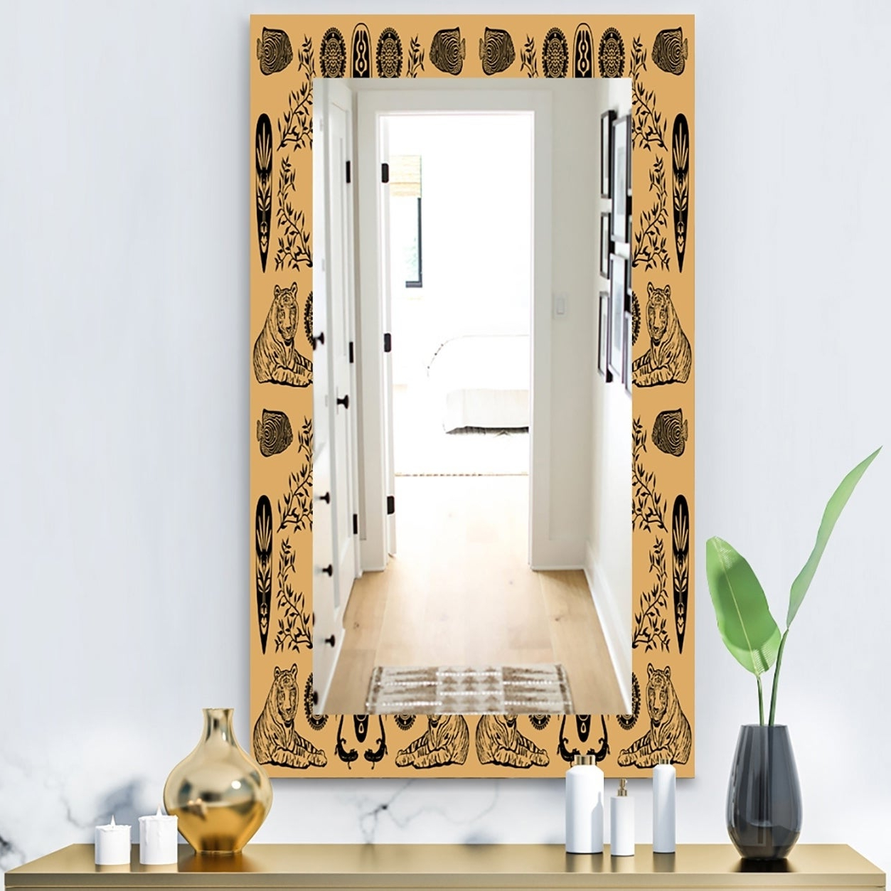 Widely Used Ethnic Wall Mirrors Pertaining To Designart 'ethnic Mask' Bohemian And Eclectic Mirror – Wall Mirror – Orange (View 20 of 20)