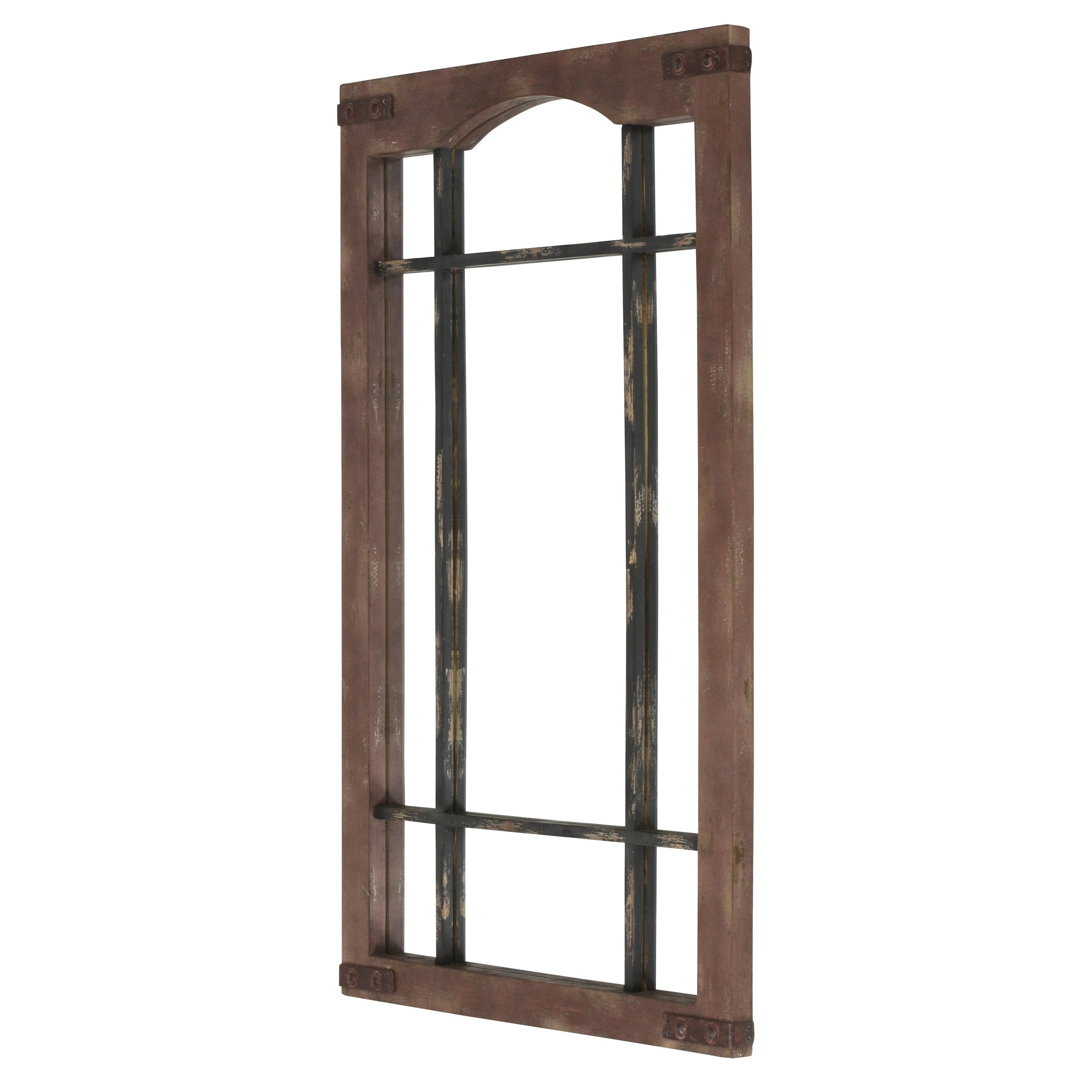 Widely Used Faux Window Wood Wall Mirrors In Sheridan Faux Window Wall Mirror – Brown (View 20 of 20)