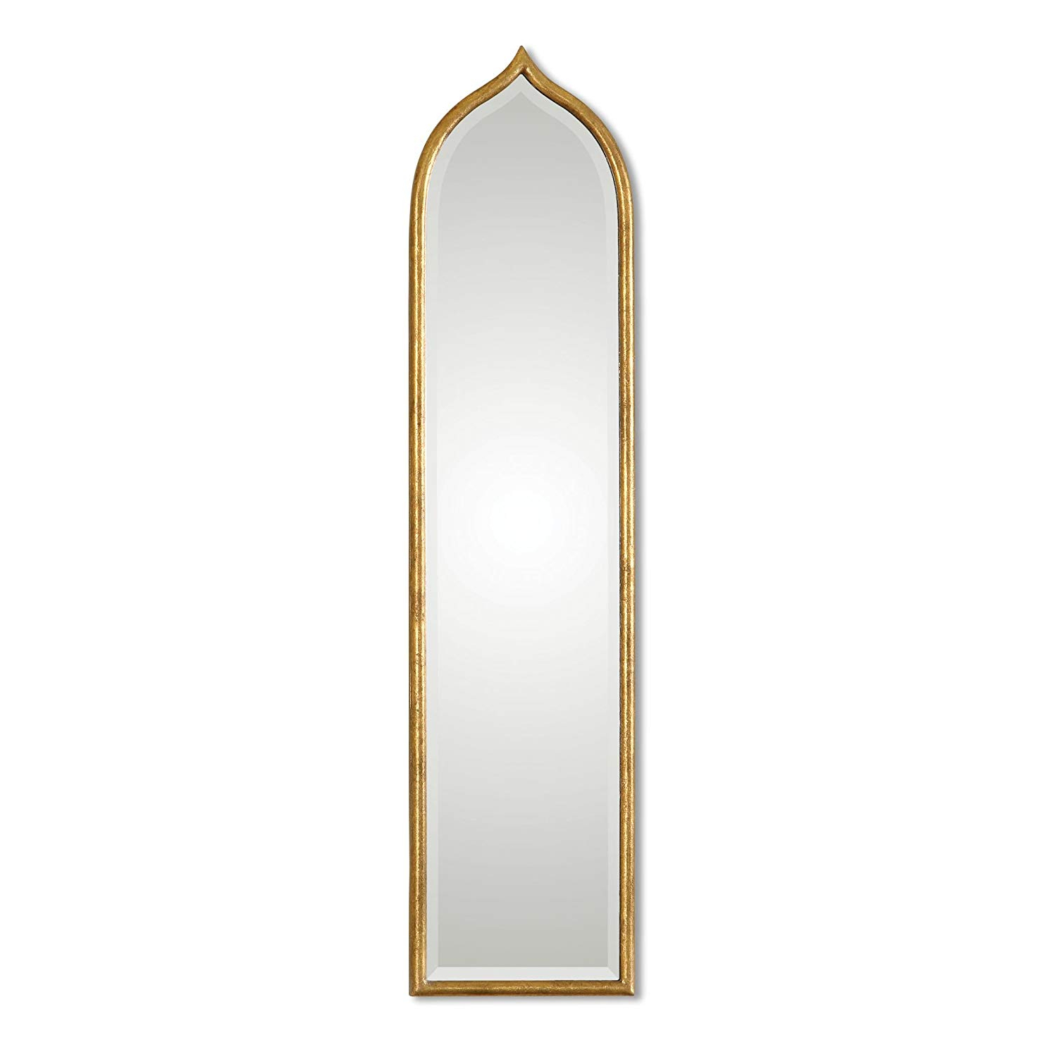 Widely Used Gold Arch Wall Mirrors In Amazon: Zinc Decor Narrow Arch Gold Leaf Beveled Wall Mirror (View 14 of 20)