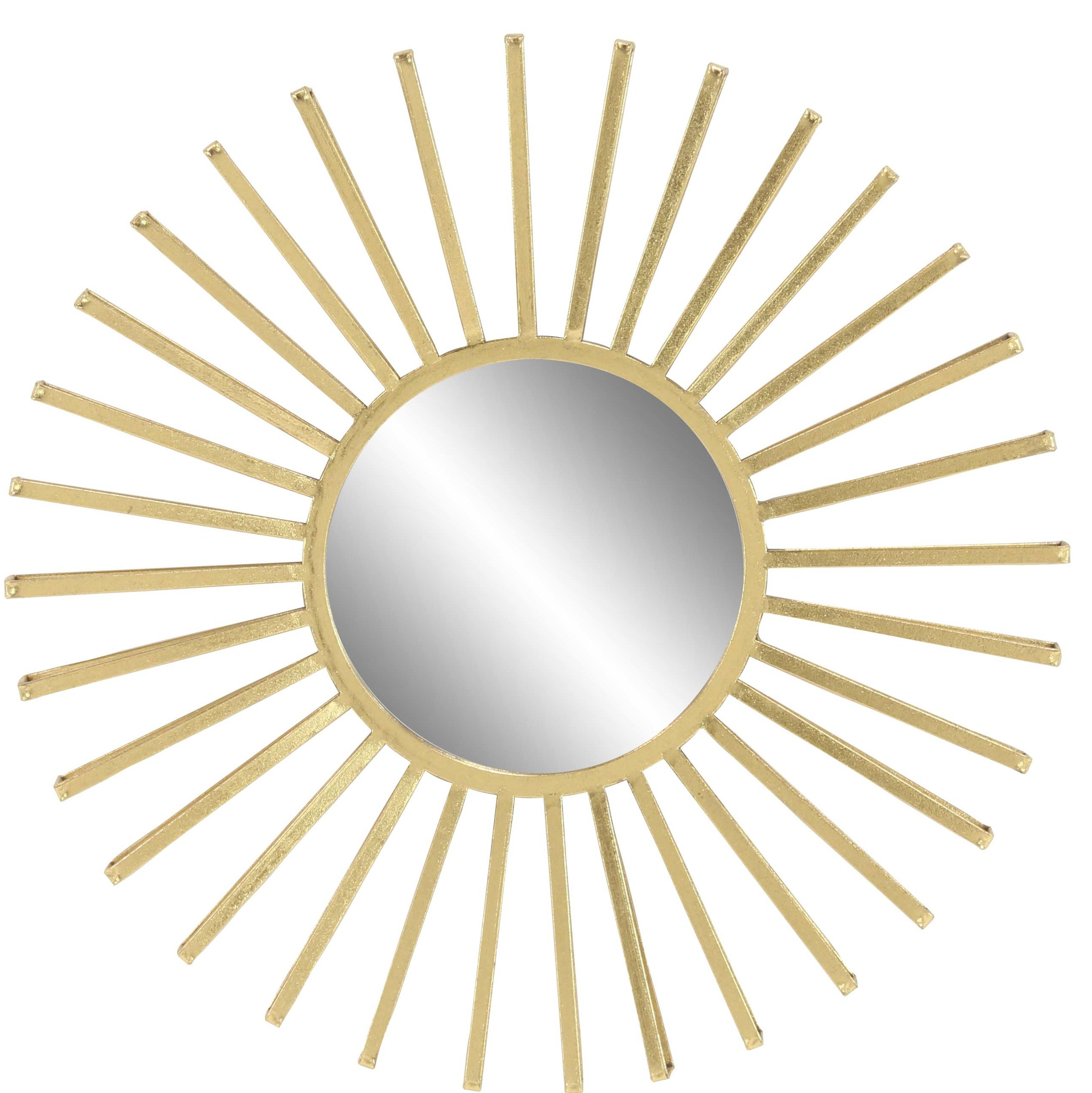 Widely Used Harbert Modern And Contemporary Distressed Accent Mirrors Regarding Neetu Modern Sun Accent Mirror (View 13 of 20)