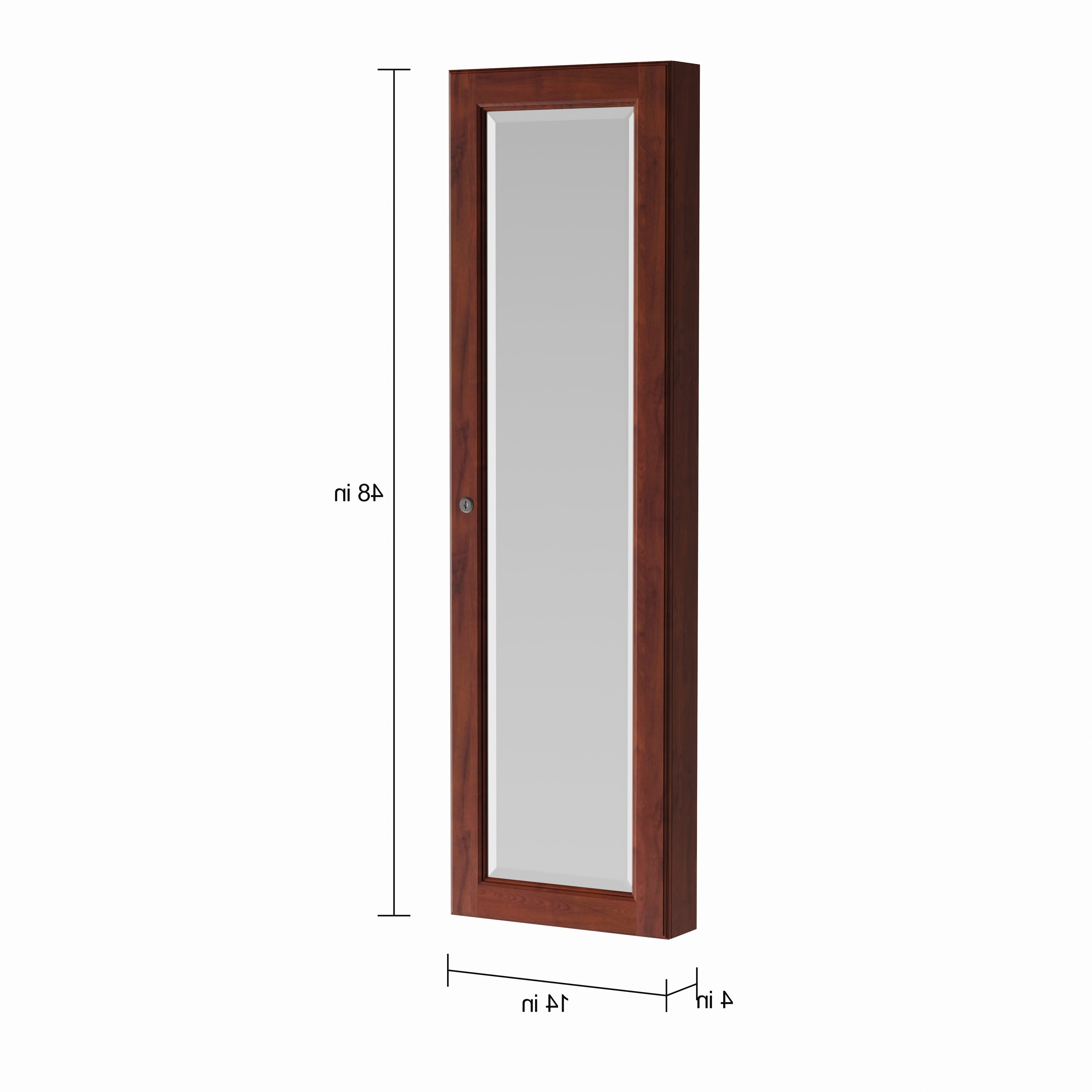 Widely Used Jewelry Wall Mirrors For Copper Grove Galax Wall Mount Burgundy Cherry Jewelry Mirror (View 20 of 20)