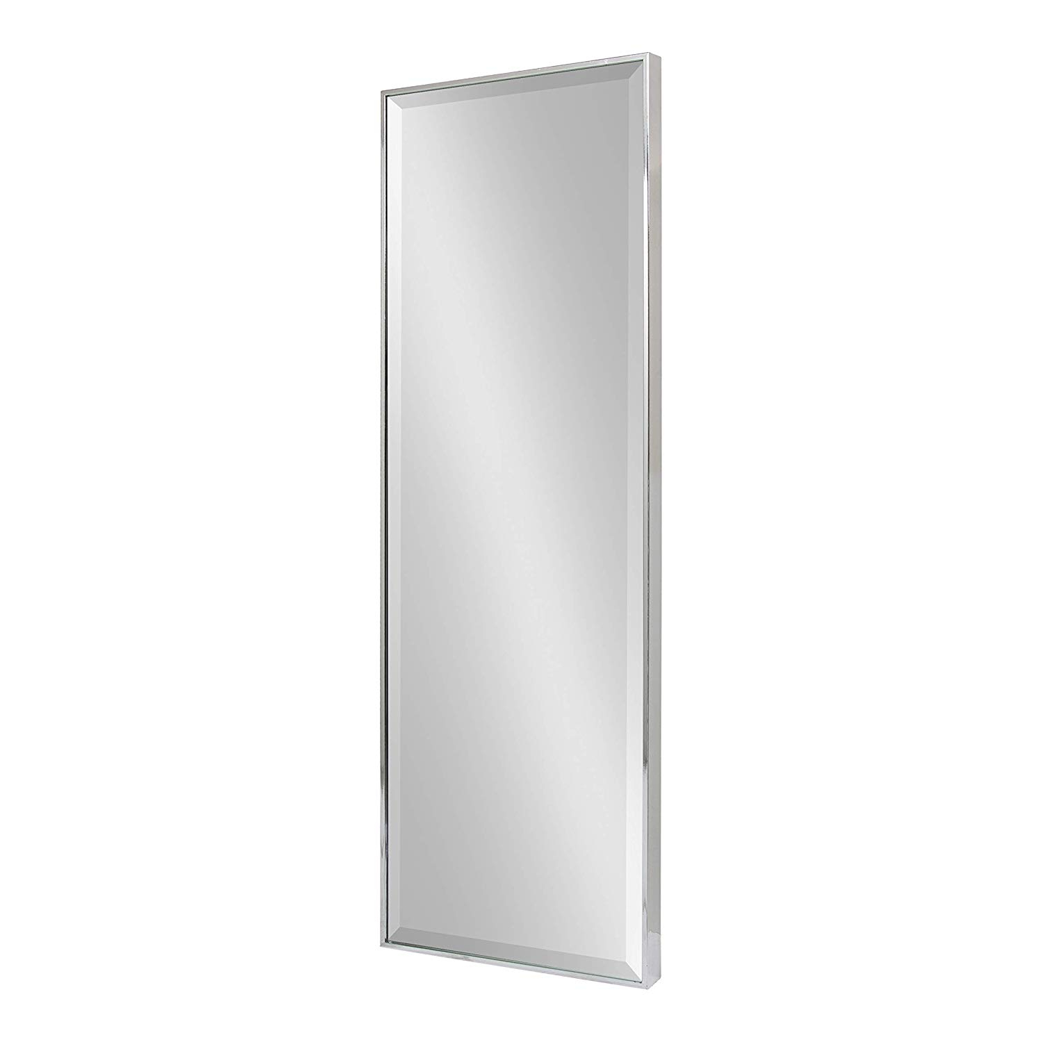 Widely Used Kate And Laurel Rhodes Decorative Frame Full Length Wall Mirror,  16.75X48.75. Silver For Decorative Full Length Wall Mirrors (Gallery 10 of 20)