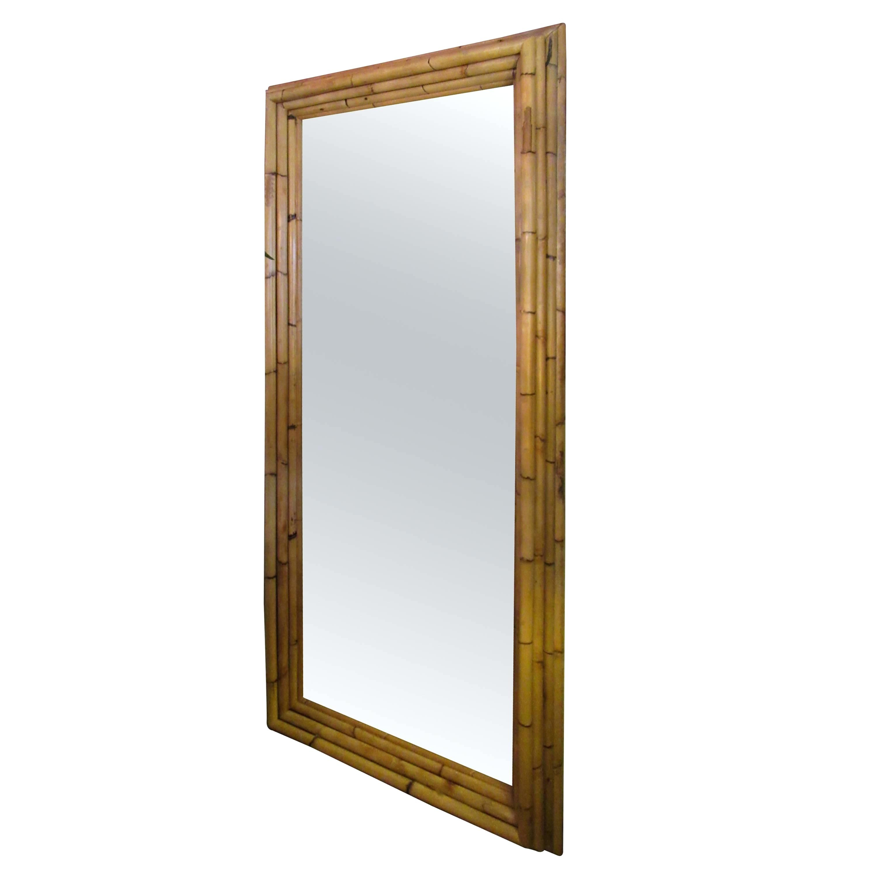 Widely Used Large Bamboo Wall Mirrors Dimensional Frame Full Length Mirror For With Regard To Bamboo Framed Wall Mirrors (View 20 of 20)