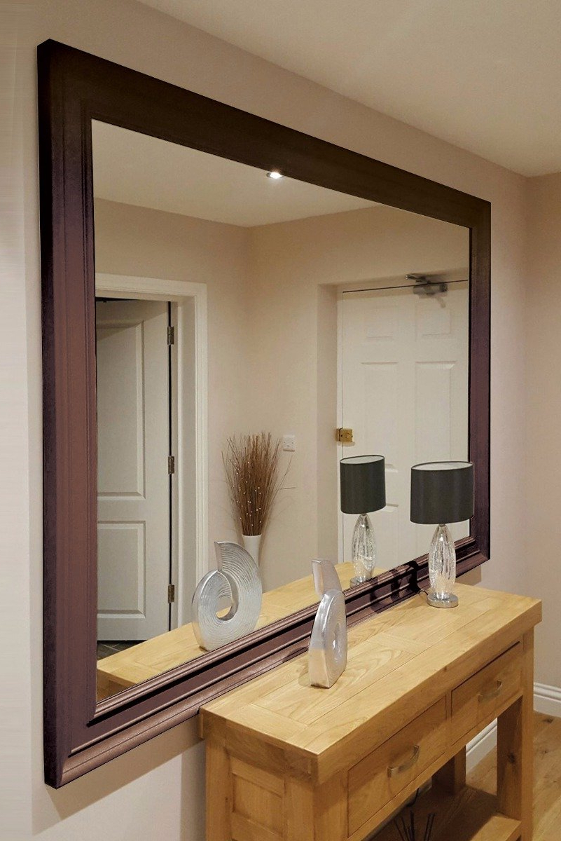 Widely Used Large Modern Wall Mirrors For Extra Large Bronze Coloured Modern Big Leaner Wall Mirror (View 11 of 20)
