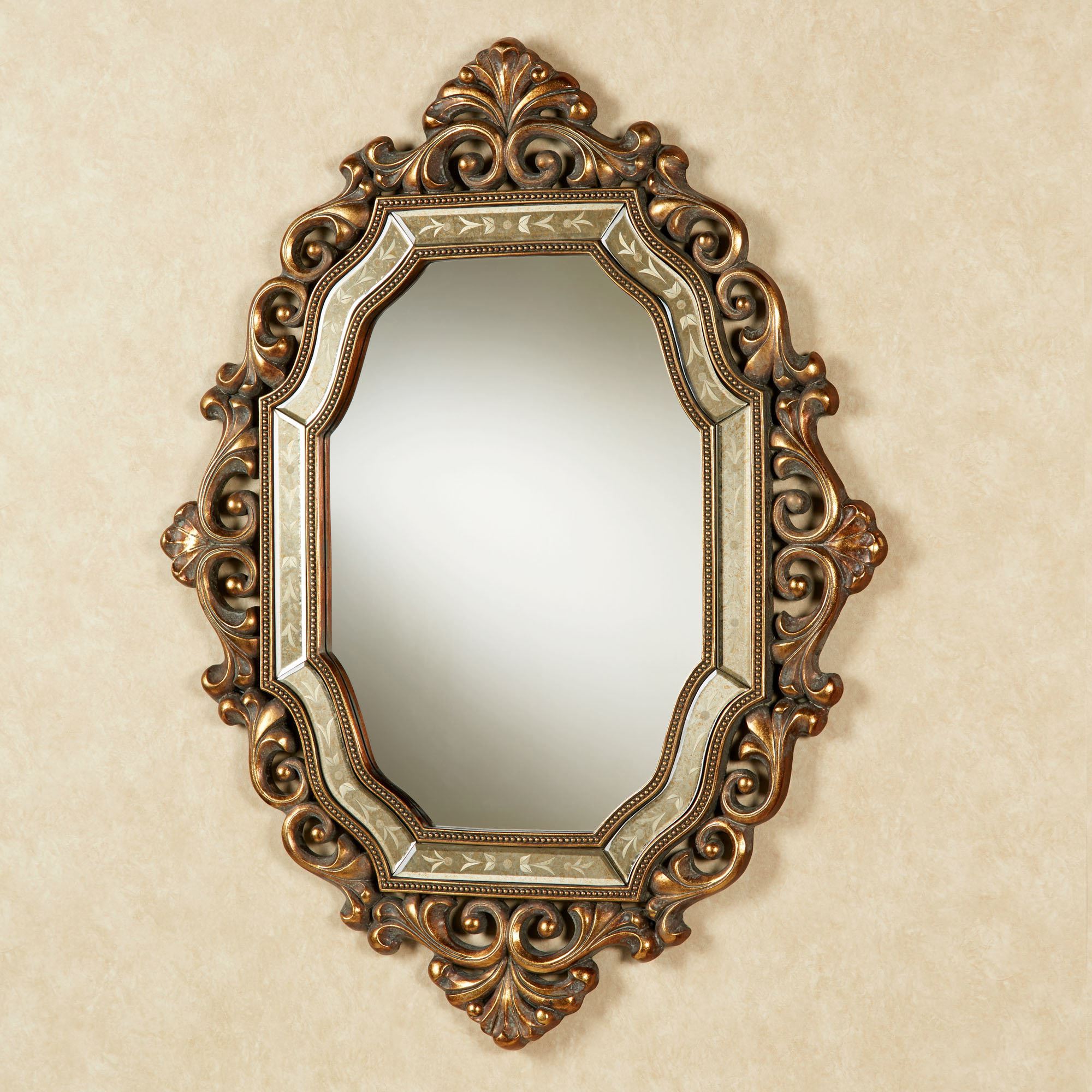 Widely Used Large Vintage Wall Mirrors For Verena Old World Wall Mirror (View 20 of 20)