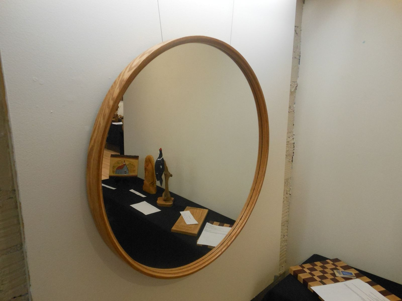 Widely Used Large Wall Mirrors With Wood Frame In Large Round Mirror With Wood Frame Designs 42 Inches Mirrors (View 18 of 20)