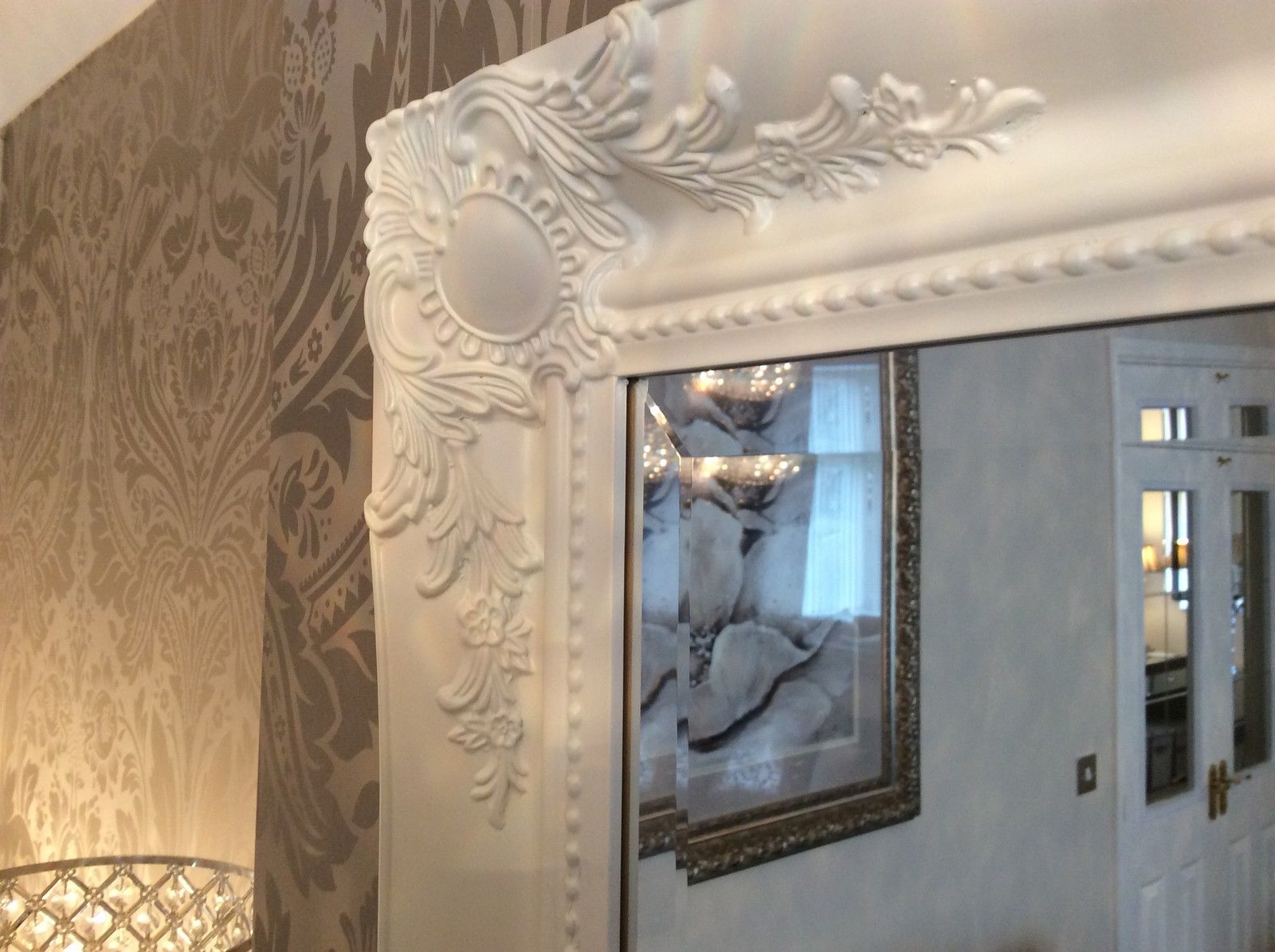 Widely Used Large White Shabby Chic Wall Mirror – Large Range Of Sizes Inside White Shabby Chic Wall Mirrors (View 13 of 20)