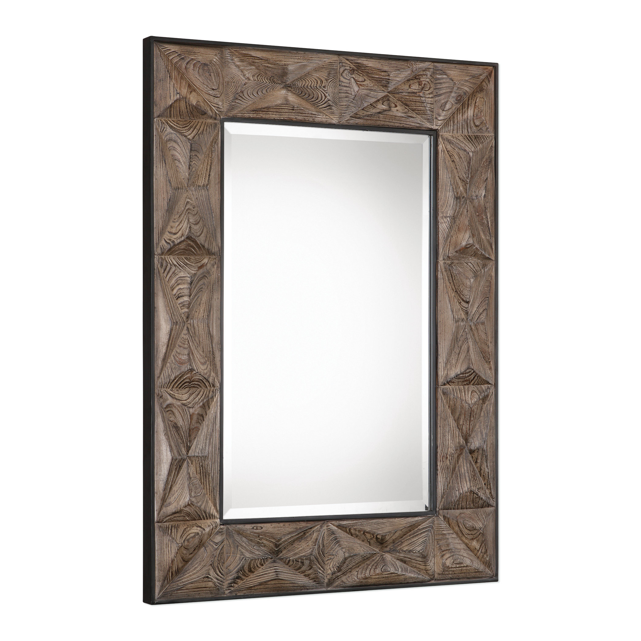 Widely Used Longwood Rustic Beveled Accent Mirrors Pertaining To Traditional Aged Beveled Accent Mirror (View 17 of 20)
